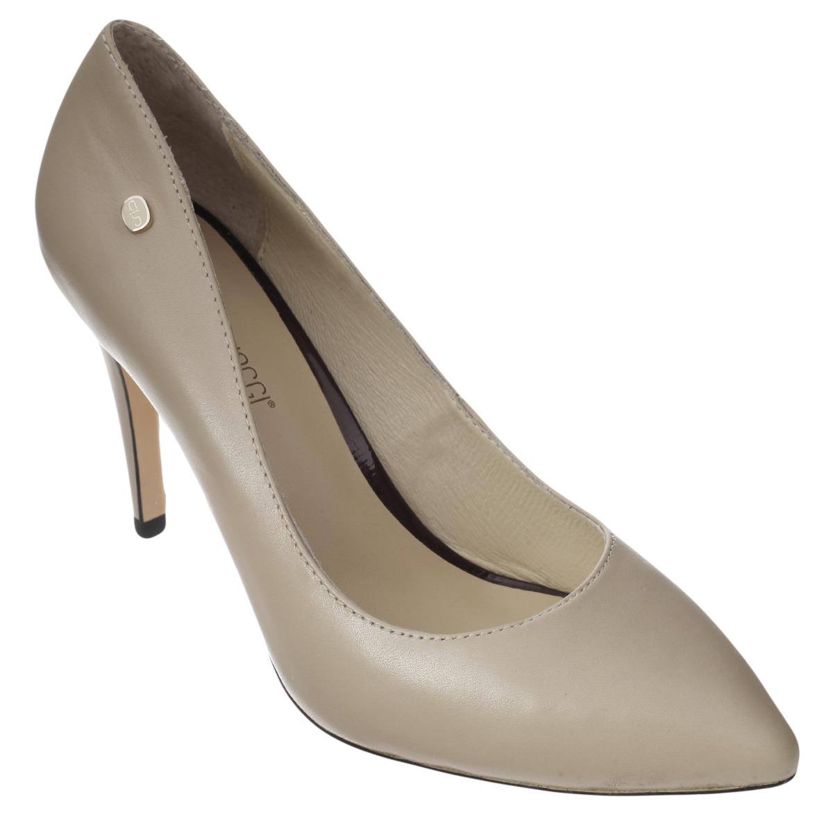 Туфли женские. 5272152721Модные женские туфли от Antonio Biaggi заинтересуют вас своим дизайном. Модель выполнена из высококачественной натуральной кожи и оформлена небольшой металлической пластиной с логотипом бренда. Зауженный носок смотрится стильно. Подкладка и стелька из натуральной кожи обеспечивают комфорт при движении. Подошва дополнена противоскользящим рифлением. Роскошные туфли помогут вам создать элегантный образ.