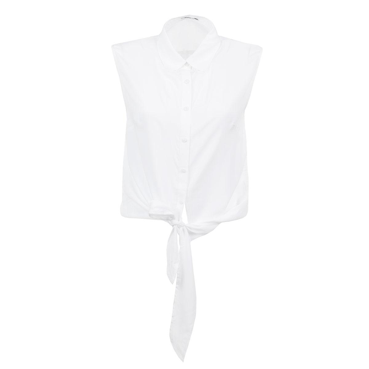 Блузка. 535308535308Очаровательная блуза People очень удобна и практична. Изготовлена из легкой вискозы. Модель свободного кроя с отложным воротником и без рукавов, застегивается на пуговицы и внизу имеет завязки. Такая блуза послужит замечательным дополнением к вашему гардеробу. Лаконичный дизайн и великолепное качество.