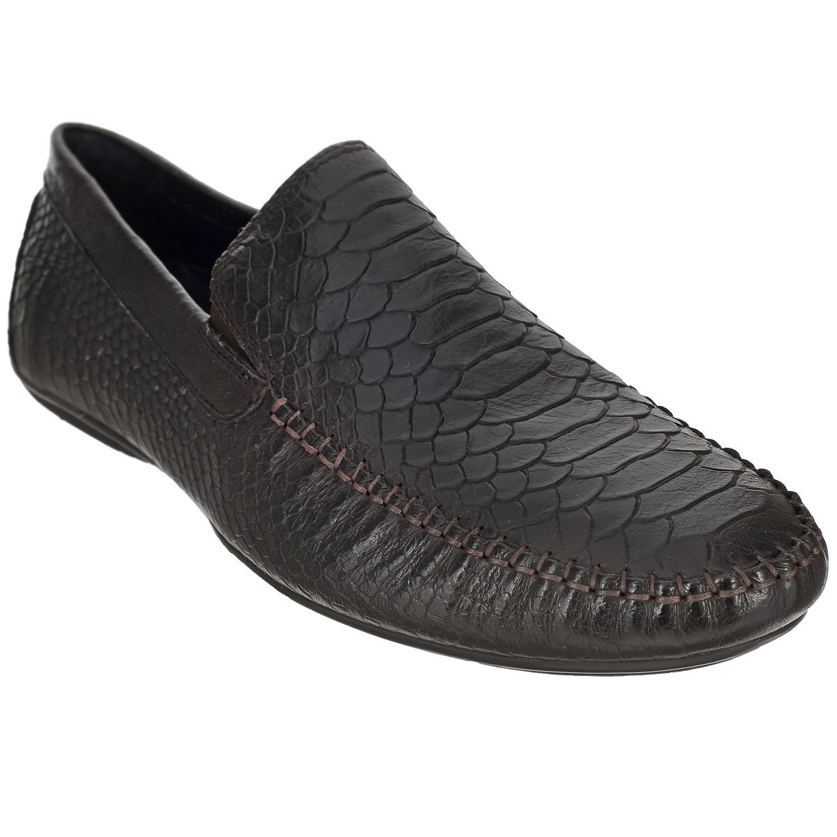 Полуботинки мужские. 109-08-3109-08-34Элегантные мужские полуботинки от Dino Ricci не оставят вас равнодушным! Модель стилизована под мокасины и выполнена из натуральной кожи с тиснением под рептилию. Обувь оформлена внешними декоративными швами на мысе. Резинки, расположенные на подъеме, гарантируют оптимальную посадку модели на ноге. Съемная стелька EVA с внешней поверхностью из натуральной кожи комфортна при движении. Прочная подошва, дополненная рифлением, не скользит. Стильные полуботинки займут достойное место среди вашей коллекции обуви.