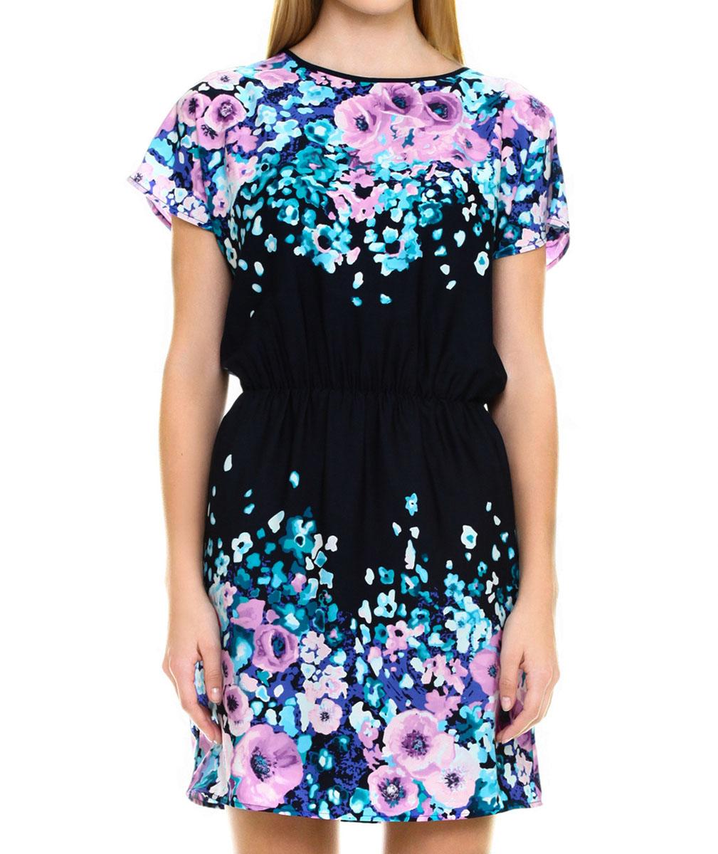 Платье. B455026B455026 LILAC PRINTEDСтильное платье Baon с цветочным принтом - прекрасный вариант для праздника и для повседневной носки. Изделие выполнено из полиэстера с шелковистой фактурой. Модель с круглым вырезом горловины и короткими рукавами, сзади застегивается на потайную молнию и крючок. Плате приталенного силуэта подчеркнет вашу женственность. Модель дополнена двумя втачными карманами. В таком наряде вы, безусловно, привлечете восхищенные взгляды окружающих.