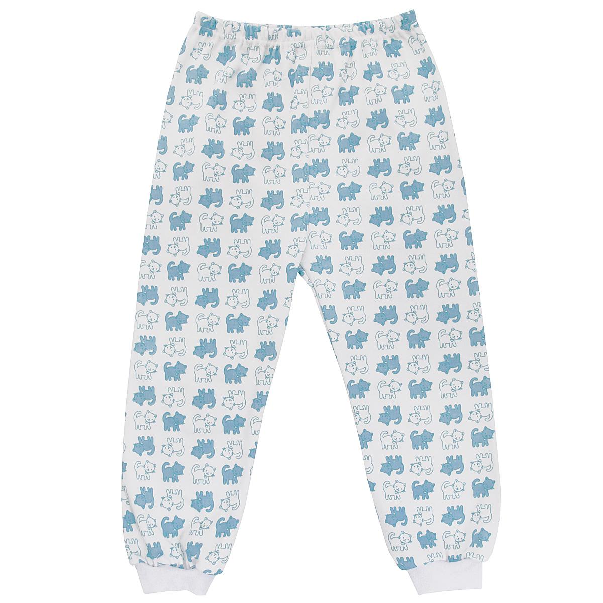 Штанишки5315_котенокУдобные штанишки Трон-плюс идеально подойдут вашему ребенку и станут отличным дополнением к детскому гардеробу. Изготовленные из натурального хлопка, они необычайно мягкие и легкие, не сковывают движения, позволяют коже дышать и не раздражают даже самую нежную и чувствительную кожу ребенка. Штанишки на талии имеют эластичную резинку, благодаря чему они не сдавливают животик ребенка и не сползают. Низ штанишек дополнен широкими эластичными манжетами. Оформлена модель ненавязчивым принтом с изображениями котенка. В таких штанишках ваш ребенок будет чувствовать себя комфортно и уютно.