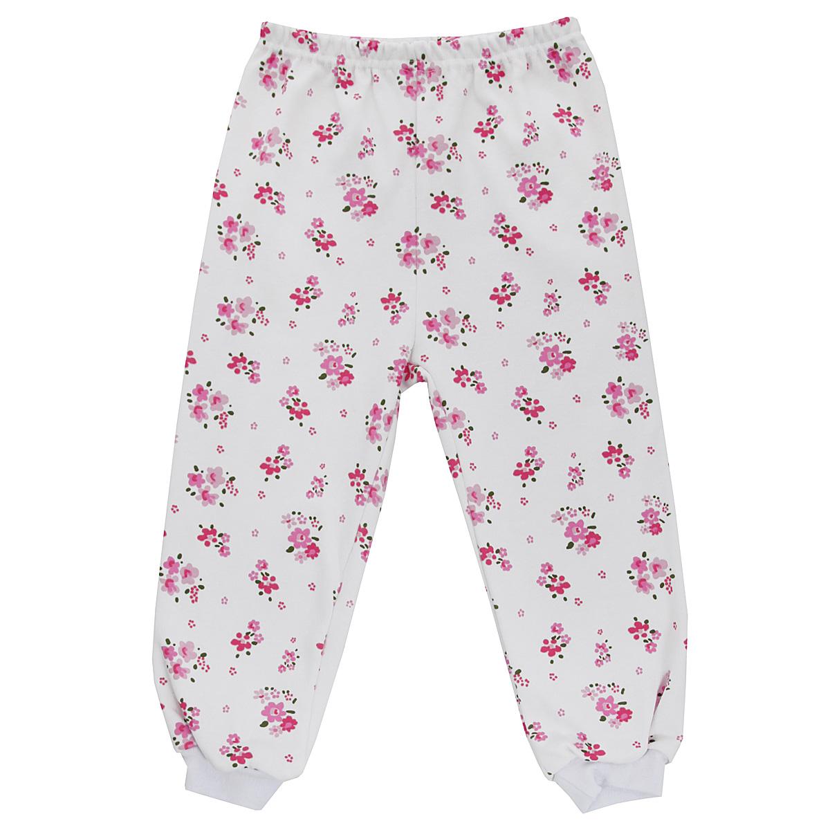 Штанишки5315_цветыУдобные штанишки для девочки Трон-плюс идеально подойдут вашей малышке и станут отличным дополнением к детскому гардеробу. Изготовленные из натурального хлопка - интерлока, они необычайно мягкие и легкие, не сковывают движения, позволяют коже дышать и не раздражают даже самую нежную и чувствительную кожу ребенка. Штанишки на талии имеют эластичную резинку, благодаря чему они не сдавливают животик ребенка и не сползают. Низ штанишек дополнен широкими эластичными манжетами. Оформлена модель ненавязчивым цветочным принтом. В таких штанишках ваша дочурка будет чувствовать себя комфортно и уютно.