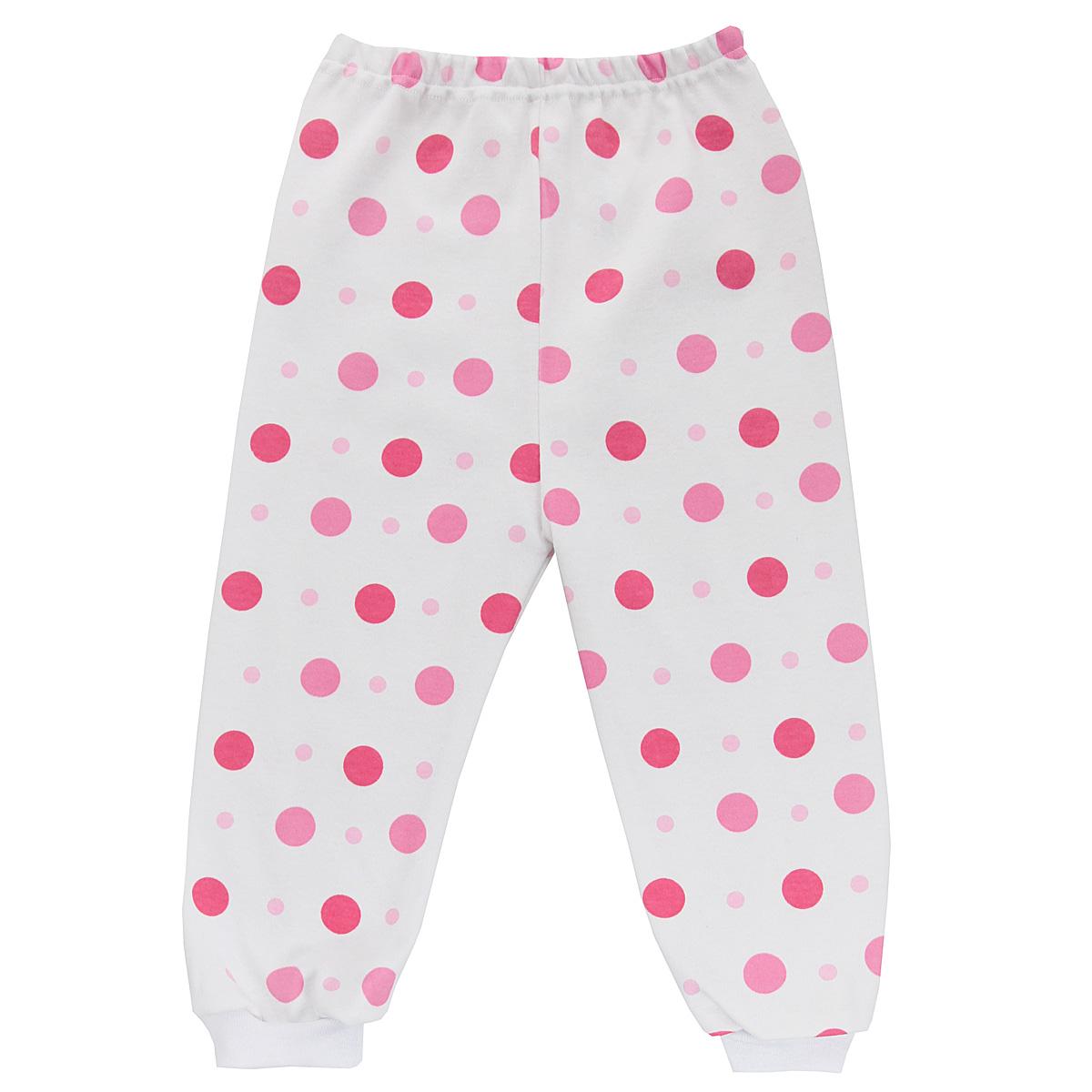 Штанишки5315_горохУдобные штанишки Трон-плюс идеально подойдут вашему ребенку и станут отличным дополнением к детскому гардеробу. Изготовленные из натурального хлопка, они необычайно мягкие и легкие, не сковывают движения, позволяют коже дышать и не раздражают даже самую нежную и чувствительную кожу ребенка. Штанишки на талии имеют эластичную резинку, благодаря чему они не сдавливают животик ребенка и не сползают. Низ штанишек дополнен широкими эластичными манжетами. Оформлена модель гороховым принтом. В таких штанишках ваш ребенок будет чувствовать себя комфортно и уютно.