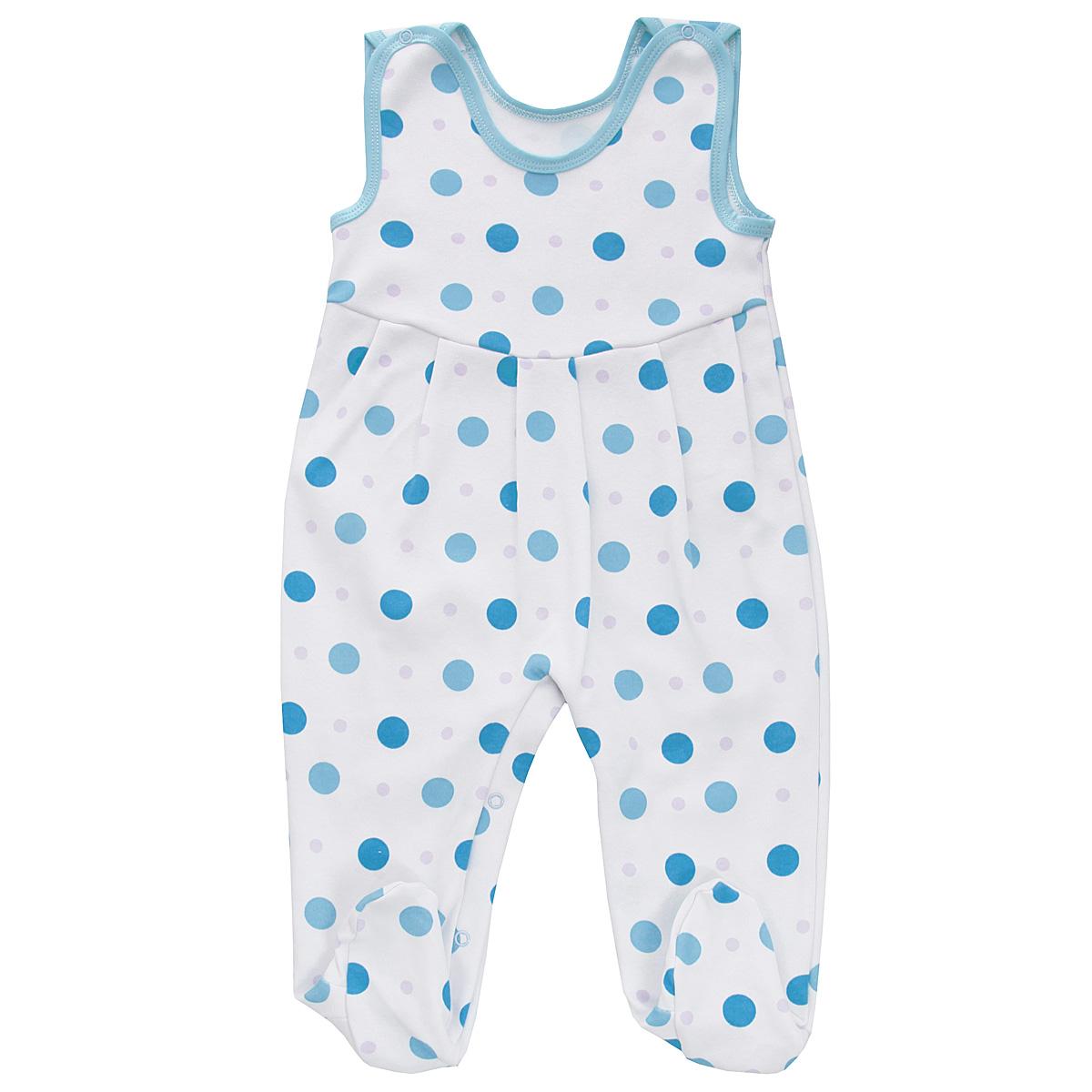 Ползунки5247_горохПолзунки с грудкой Трон-плюс - очень удобный и практичный вид одежды для малышей. Ползунки выполнены из интерлока - натурального хлопка, благодаря чему они необычайно мягкие и приятные на ощупь, не раздражают нежную кожу ребенка и хорошо вентилируются, а эластичные швы приятны телу младенца и не препятствуют его движениям. Ползунки с закрытыми ножками, оформленные гороховым принтом, имеют застежки-кнопки на плечах и на ластовице, которые помогают легко переодеть ребенка или сменить подгузник. Ползунки с грудкой подходят для ношения с подгузником и без него, они полностью соответствуют особенностям жизни младенца в ранний период, не стесняя и не ограничивая его в движениях!