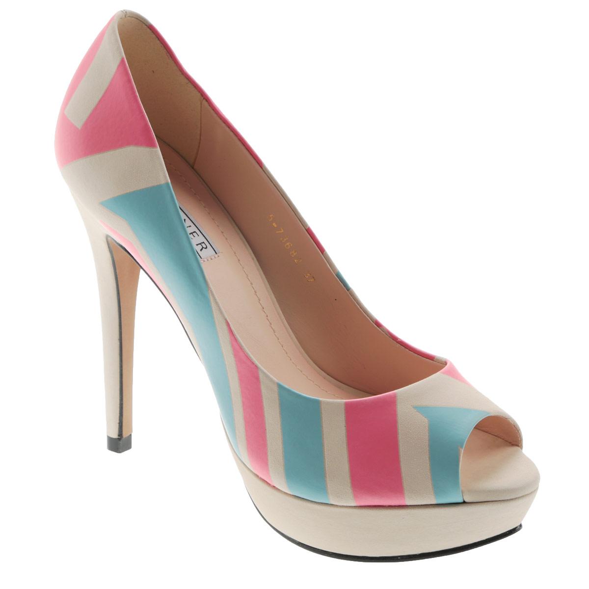 5-73682Женские туфли на шпильке от Werner прекрасно подчеркнут ваш стиль. Верх модели выполнен из натурального нубука и оформлен ярким принтом. Внутренняя часть и стелька из натуральной кожи гарантируют комфорт и удобство при ходьбе. Открытый носок смотрится невероятно женственно. Высокий каблук подчеркнет красоту и стройность ваших ног. Высоту каблука компенсирует платформа. Подошва выполнена из прочного полимера с противоскользящим рифлением. Такие туфли станут прекрасным дополнением вашего гардероба. Они сделают вас ярче и подчеркнут вашу индивидуальность!