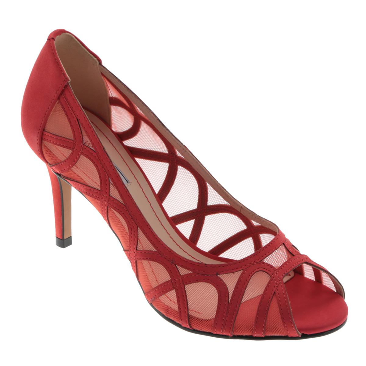 Туфли женские. 8-044788-04478Яркие женские туфли на шпильке от Werner прекрасно подчеркнут ваш стиль. Верх модели выполнен из натурального нубука и сетчатого материала. Оформлено изделие оригинальным рисунком. Внутренняя часть и стелька из натуральной кожи гарантируют комфорт и удобство при ходьбе. Открытый носок добавляет женственности в образ. Высокий каблук подчеркнет красоту и стройность ваших ног. Подошва выполнена из прочного полимера с противоскользящим рифлением. Такие туфли станут прекрасным дополнением вашего гардероба. Они сделают вас ярче и подчеркнут вашу индивидуальность!