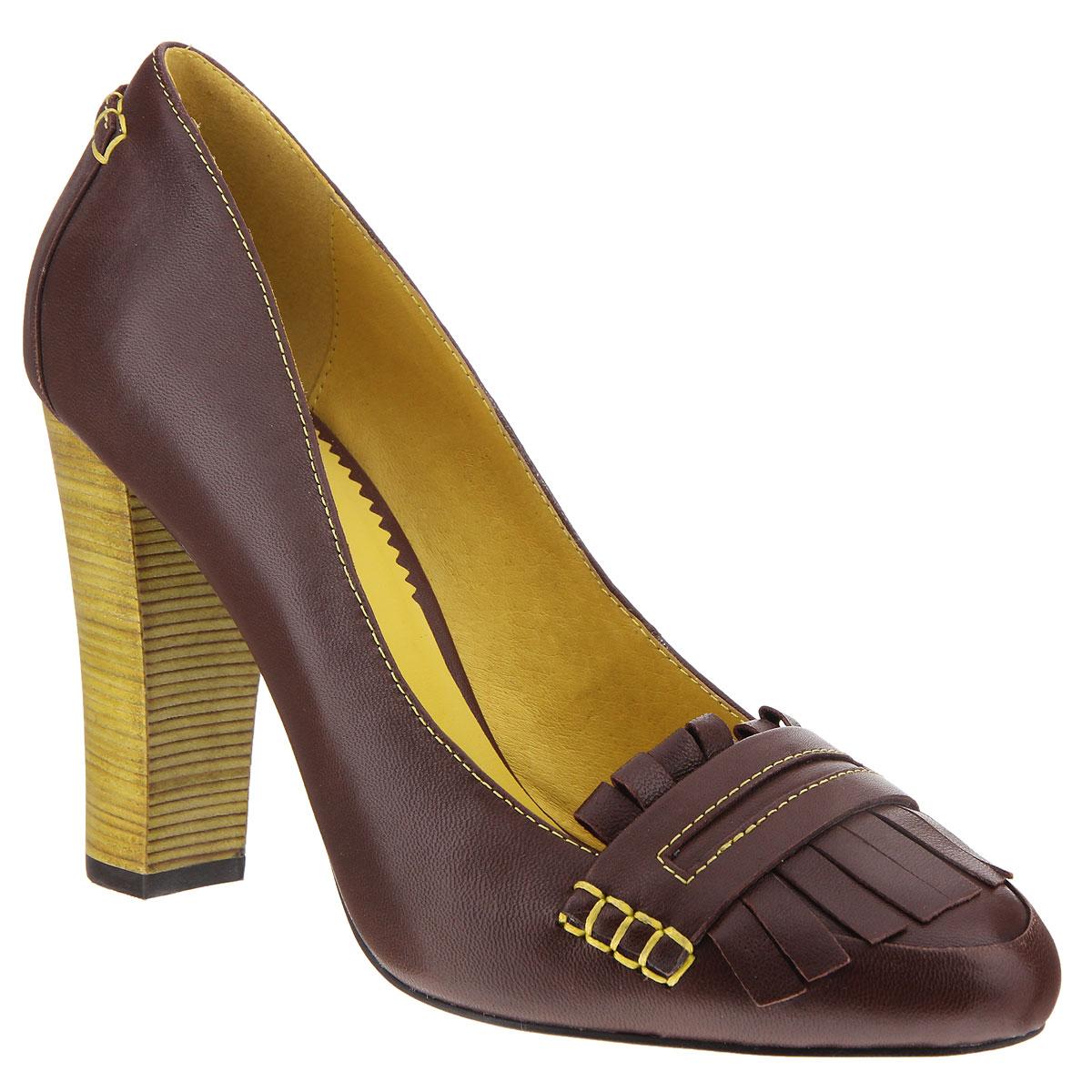 Туфли женские. X221-06AX221-06AЖенские туфли на каблуке от Lisette прекрасно подчеркнут ваш стиль. Верх модели выполнен из натуральной кожи. Внутренняя часть и стелька из натуральной кожи гарантируют комфорт и удобство при ходьбе. Оформлено изделие контрастной строчкой, декоративным ремешком и бахромой из кожи. Устойчивый широкий каблук оформлен декоративной отделкой. Подошва выполнена из прочной резины с противоскользящим рифлением. Такие туфли станут прекрасным дополнением вашего гардероба. Они сделают вас ярче и подчеркнут вашу индивидуальность!