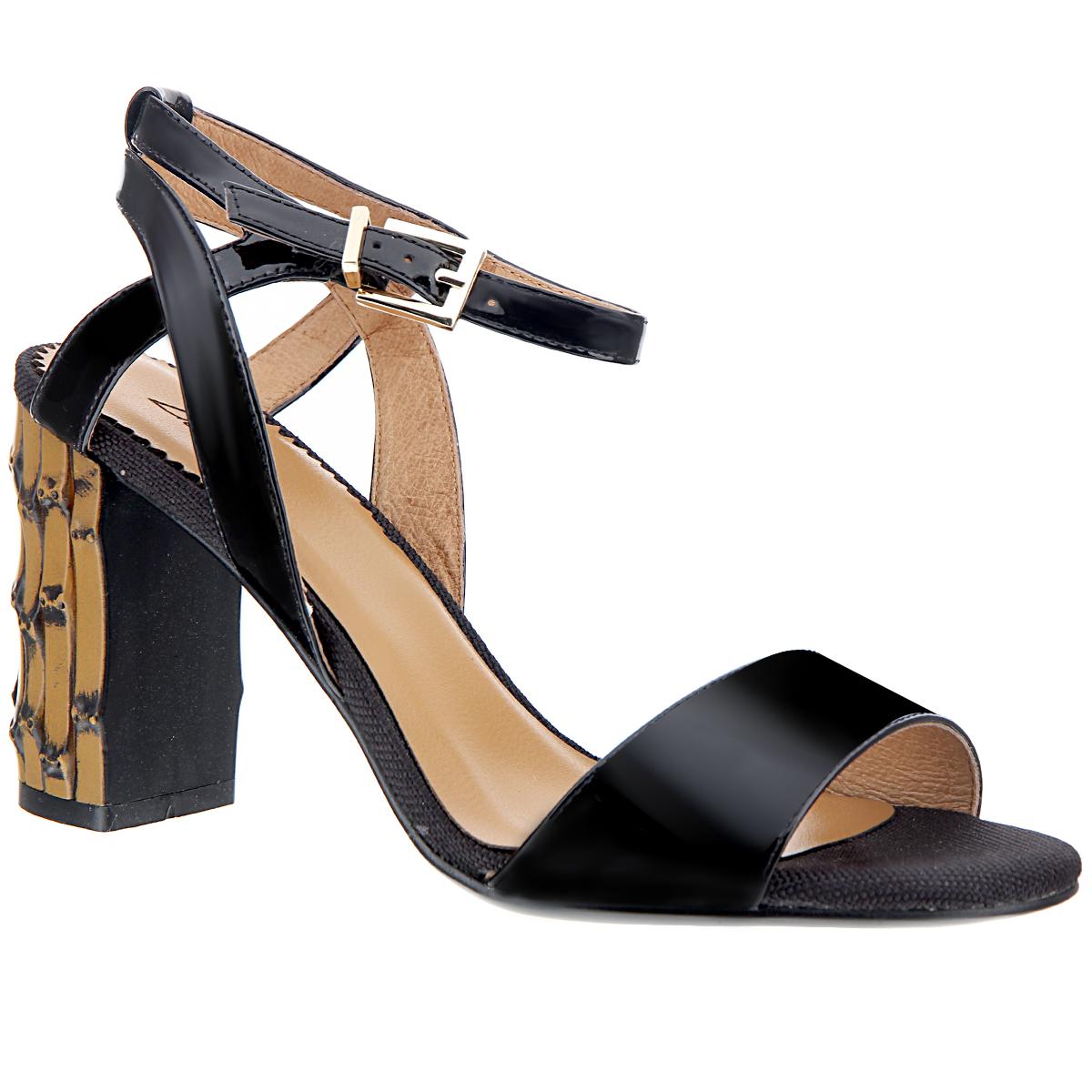 Босоножки женские. 6022-14-16022-14-1Стильные босоножки на каблуке от Lisette станут прекрасным дополнением летнего гардероба. Верх модели выполнен из натуральной лакированной кожи. Внутренняя часть и стелька также выполнены из натуральной кожи. Носок и пятка открыты. Щиколотку охватывает тонкий ремешок с металлической пряжкой. Устойчивый широкий каблук оформлен декоративной отделкой. Подошва выполнена из прочной резины с нескользящим рифлением. Такие босоножки сделают вас ярче и подчеркнут вашу индивидуальность.