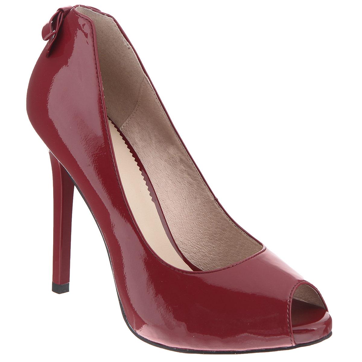 Туфли женские. CZL133-106DCZL133-106DЖенские туфли на шпильке от Lisette прекрасно подчеркнут ваш стиль. Верх модели выполнен из натуральной лакированной кожи. Внутренняя часть и стелька из натуральной кожи гарантируют комфорт и удобство при ходьбе. Открытый носок добавляет женственности в образ. Модель декорирована на пятке небольшим бантиком. Высоту каблука компенсирует небольшая платформа. Подошва выполнена из прочной резины с противоскользящим рифлением. Такие туфли станут прекрасным дополнением вашего гардероба. Они сделают вас ярче и подчеркнут вашу индивидуальность!
