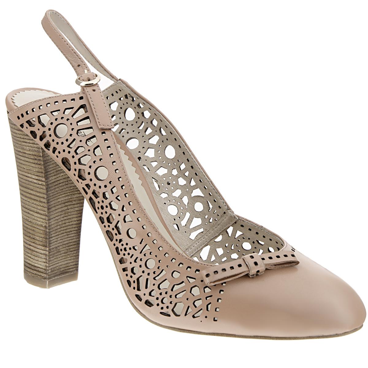 Туфли женские. X221-01X221-01BЯркие женские туфли на каблуке от Lisette прекрасно подчеркнут ваш стиль. Верх модели и внутренняя часть выполнены из натуральной кожи. Стелька из натуральной кожи гарантирует комфорт и удобство при ходьбе. Пятка открытая. Ремешок с металлической пряжкой вокруг пятки надежно фиксирует модель на ноге. Оформлено изделие перфорацией и небольшим бантиком. Подошва выполнена из прочной резины с противоскользящим рифлением. Устойчивый широкий каблук оформлен декоративной отделкой. Такие туфли станут прекрасным дополнением вашего гардероба. Они сделают вас ярче и подчеркнут вашу индивидуальность.