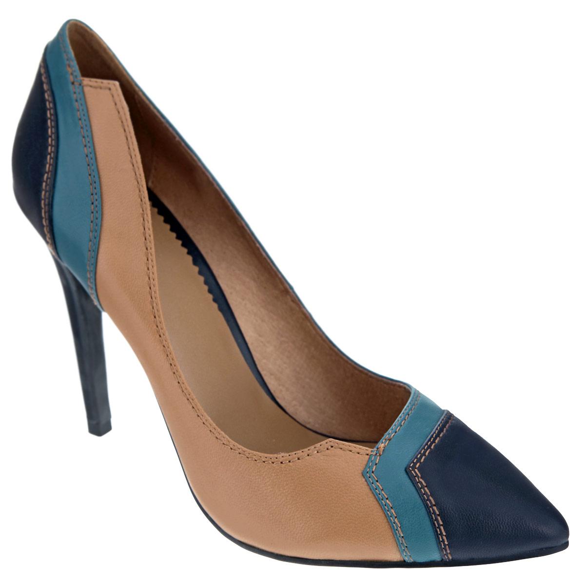 Туфли женские. X210-29BX210-29BЖенские туфли на шпильке от Lisette прекрасно подчеркнут ваш стиль. Верх модели выполнен из натуральной кожи и оформлен цветными вставками. Внутренняя часть и стелька из натуральной кожи гарантируют комфорт и удобство при ходьбе. Подошва выполнена из прочной резины с противоскользящим рифлением. Такие туфли станут прекрасным дополнением вашего гардероба. Они сделают вас ярче и подчеркнут вашу индивидуальность!