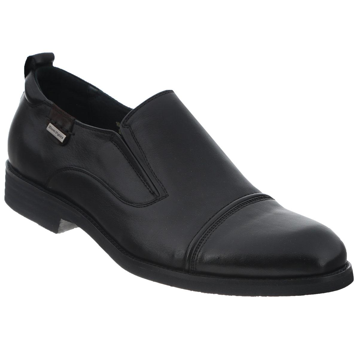 Туфли мужские. 104-165-17104-165-17Элегантные мужские туфли от Dino Ricci займут достойное место среди вашей коллекции обуви. Модель выполнена из натуральной высококачественной кожи и оформлена декоративной прострочкой и задним наружным ремнем. Сбоку изделие декорировано металлической пластиной с гравировкой в виде названия бренда. Резинки, расположенные на подъеме, гарантируют оптимальную посадку модели на ноге. Стелька из натуральной кожи оснащена перфорацией, позволяющей вашим ногам дышать. Каблук и подошва с рифлением обеспечивают отличное сцепление с поверхностью. Изысканные туфли станут прекрасным завершением вашего модного образа.