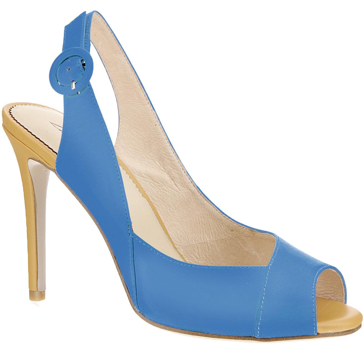 Босоножки женские. CZL145-5BCZL145-5BСтильные босоножки на шпильке от Lisette станут прекрасным дополнением летнего гардероба. Верх модели и внутренняя часть выполнены из натуральной кожи. Босоножки с открытым носком и пяткой надежно фиксирует на ноге ремешок с металлической пряжкой, обтянутой кожей в тон изделия. Каблук выполнен в контрастном цвете. Подошва выполнена из прочной резины с нескользящим рифлением. Такие босоножки сделают вас ярче и подчеркнут вашу индивидуальность.