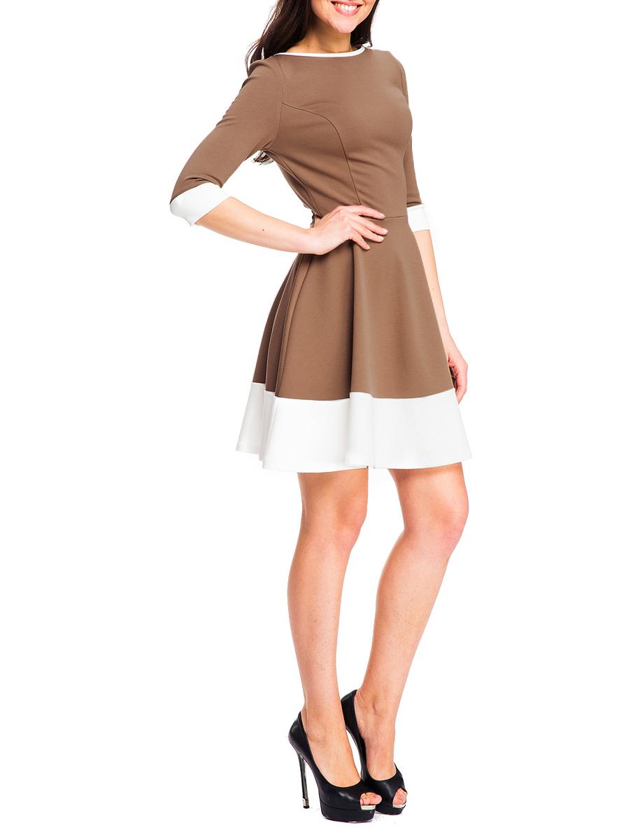 Платье. 51915191Элегантное платье Mondigo изготовлено из высококачественного материала. Такое платье обеспечит вам комфорт и удобство при носке. Платье с рукавами до локтя и с круглым вырезом горловины понравится любой ценительнице классического стиля. Платье имеет пришивную юбку-солнце. Подол украшен контрастной вставкой по низу. Приталенный силуэт великолепно подчеркнет достоинства фигуры. Изысканный наряд создаст обворожительный неповторимый образ. Это модное и удобное платье станет превосходным дополнением к вашему гардеробу, оно подарит вам удобство и поможет вам подчеркнуть свой вкус и неповторимый стиль.