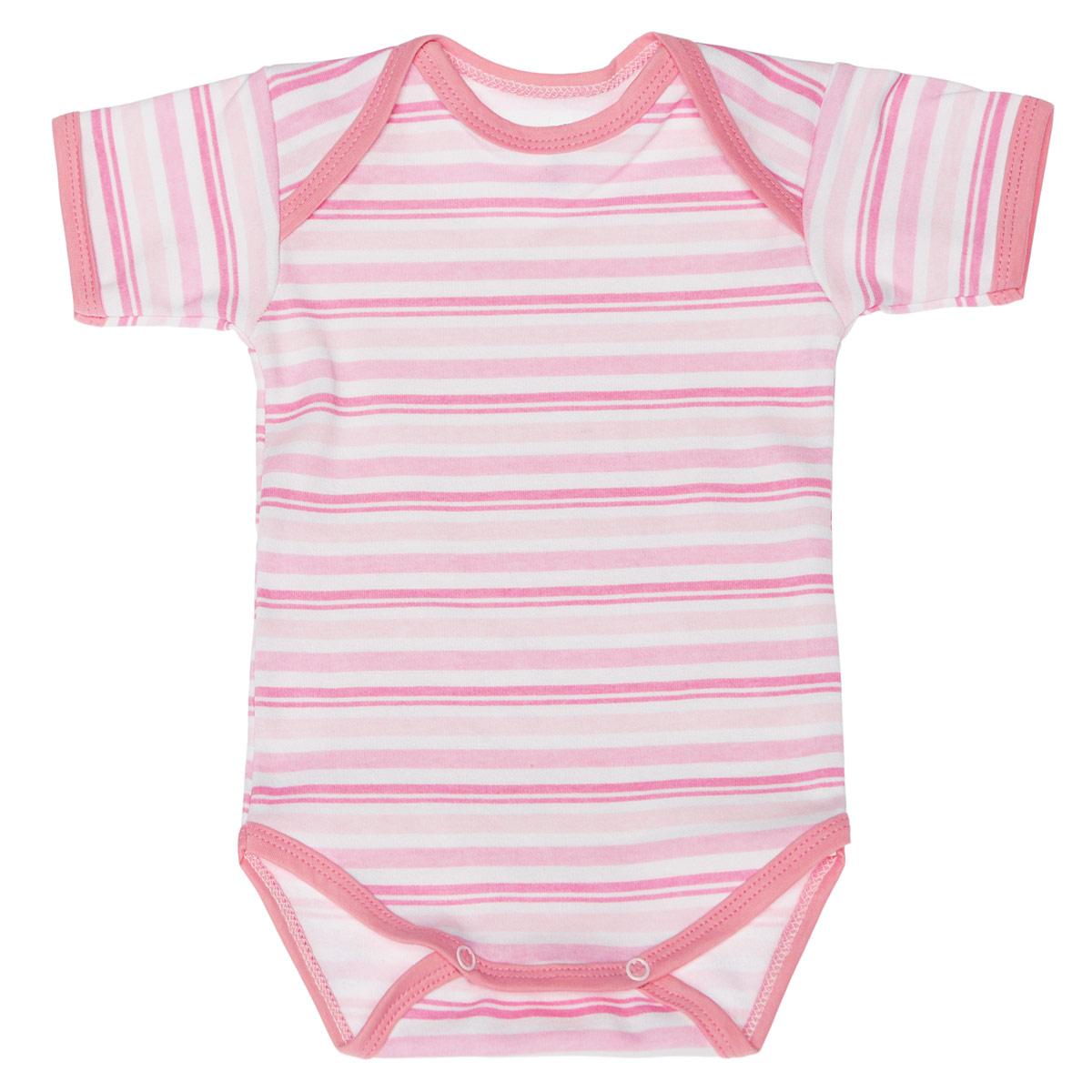 Боди-футболка детская. 5873_полоска5873_полоскаУдобное детское боди-футболка Трон-плюс послужит идеальным дополнением к гардеробу вашего крохи, обеспечивая ему наибольший комфорт. Боди с короткими рукавами и круглым вырезом горловины изготовлено из интерлока - натурального хлопка, благодаря чему оно необычайно мягкое и легкое, не раздражает нежную кожу ребенка и хорошо вентилируется, а эластичные швы приятны телу младенца и не препятствуют его движениям. Удобные запахи на плечах и кнопки на ластовице помогают легко переодеть ребенка или сменить подгузник. Вырез горловины, запахи, низ рукавов и ластовица дополнены бейкой. Оформлена модель принтом в полоску. Боди полностью соответствует особенностям жизни ребенка в ранний период, не стесняя и не ограничивая его в движениях. В нем ваш ребенок всегда будет в центре внимания.