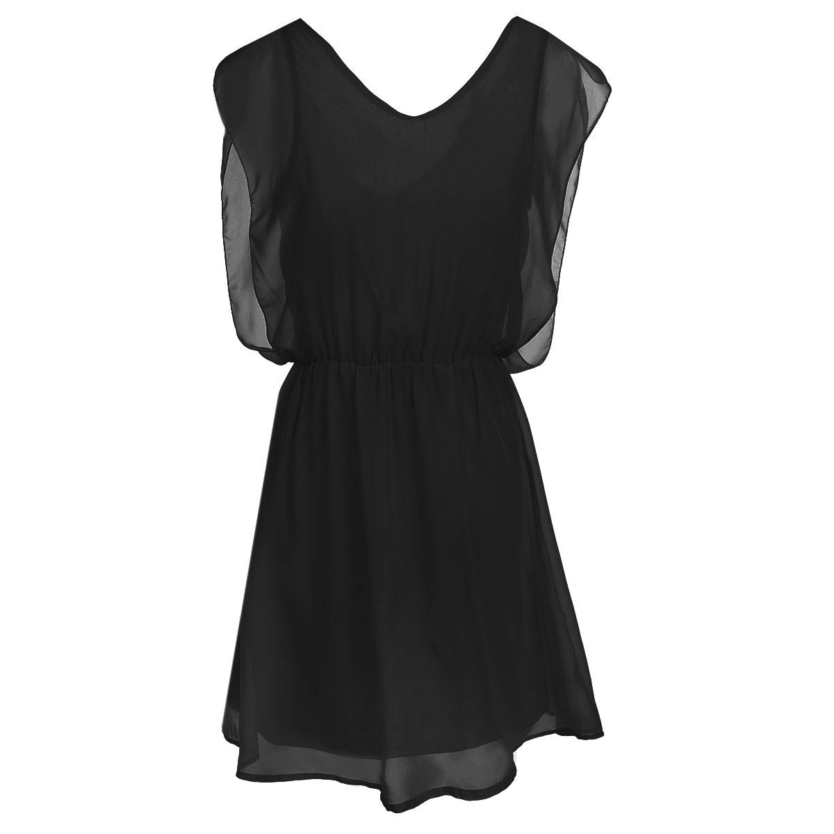 Платье10151836 300Модное летнее платье Broadway, выполненное из высококачественного материала, - прекрасный вариант для женщин, желающих подчеркнуть свою индивидуальность и хороший вкус. Платье выполнено из полупрозрачного полиэстера с подкладкой. Модель приталенного силуэта на широких лямках и с V-образным вырезом горловины. На спинке платье застегивается на пуговку. Линию талии подчеркивает эластичная резинка. Лаконичный дизайн и совершенство стиля подчеркнут вашу индивидуальность.