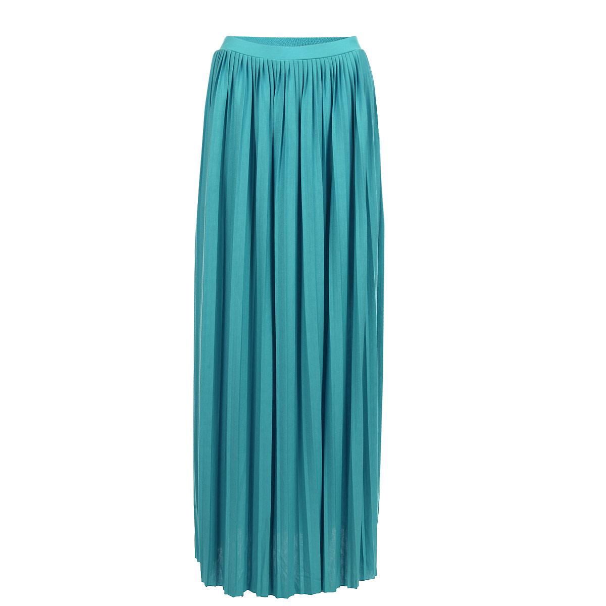 SKk-118/373-5275Яркая юбка-макси Sela выполнена из легкого струящегося и приятного на ощупь полиэстера с добавлением вискозы. Очаровательная юбка плиссе выгодно подчеркнет ваш силуэт, а благодаря однотонной расцветке она прекрасно сочетается с любыми нарядами. Стильная юбка выгодно освежит и разнообразит любой гардероб. Создайте женственный образ и подчеркните свою яркую индивидуальность!