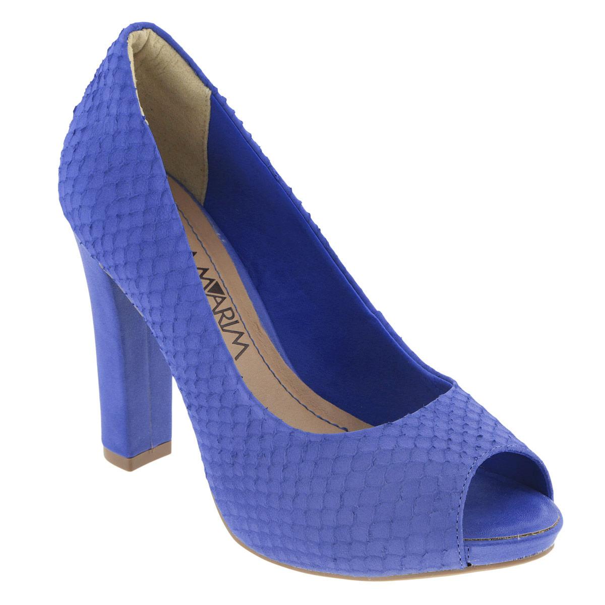 Туфли женские. 14-2223114-22231Модные туфли от Ramarim эффектно дополнят ваш летний наряд. Модель выполнена из натуральной кожи и оформлена конгревным тиснением, имитирующим змеиную кожу. Открытый носок смотрится невероятно элегантно. Мягкая стелька из натуральной кожи обеспечивает комфорт при ходьбе. Высокий каблук компенсирован платформой. Рифленая поверхность каблука и подошвы защищает изделие от скольжения. Стильные туфли не оставят равнодушной настоящую модницу!
