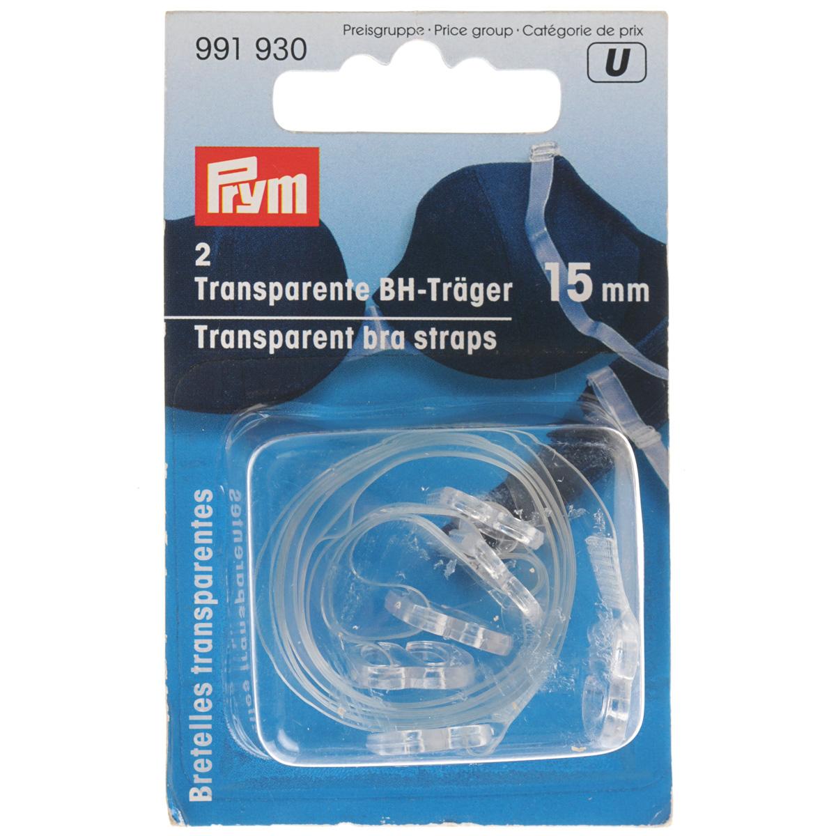 Бретели. 991930991930Бретельки Prym изготовлены из высококачественного прозрачного пластика. Оны подойдут для топов, платьев, корсетов и другой одежды с открытой спиной. Комплектация: 2 шт.