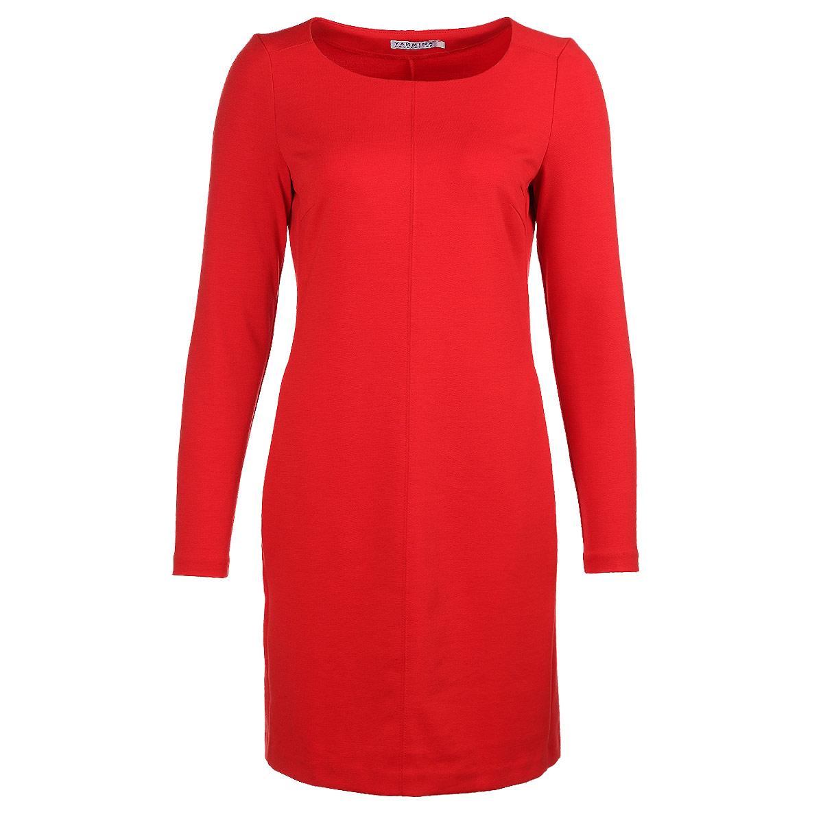 Платье. Y0235-0010/Y0226-0010Y0226-0010 newЭлегантное платье Yarmina изготовлено из высококачественного материала. Такое платье обеспечит вам комфорт и удобство при носке. Платье с длинными рукавами и круглым вырезом горловины понравится любой ценительнице классического стиля и современных форм. Платье оформлено декоративными вытачками на груди, и дополнено двумя прорезными карманами. Приталенная модель с прямой юбкой великолепно подчеркнет достоинства вашей фигуры. Изысканное платье создаст обворожительный неповторимый образ. Это модное и удобное платье станет превосходным дополнением к вашему гардеробу, оно подарит вам удобство и поможет вам подчеркнуть свой вкус и неповторимый стиль.