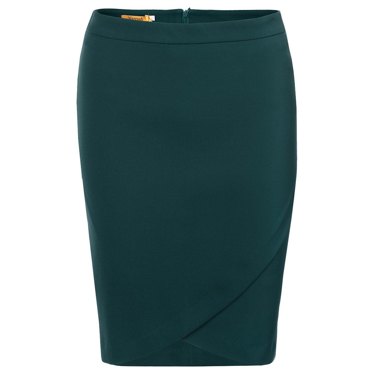 Юбка. 1501551/15005511500551Модная юбка-карандаш Yarash, изготовленная из высококачественного плотного материала на подкладке из полиэстера, подарит ощущение радости и комфорта. Модель с запахом на нешироком поясе, сзади застегивается на потайную молнию. Актуальная длина и классический покрой сделают эту вещь любимым предметом вашего гардероба. В этой юбке вы будете чувствовать себя неотразимой, оставаясь в центре внимания.
