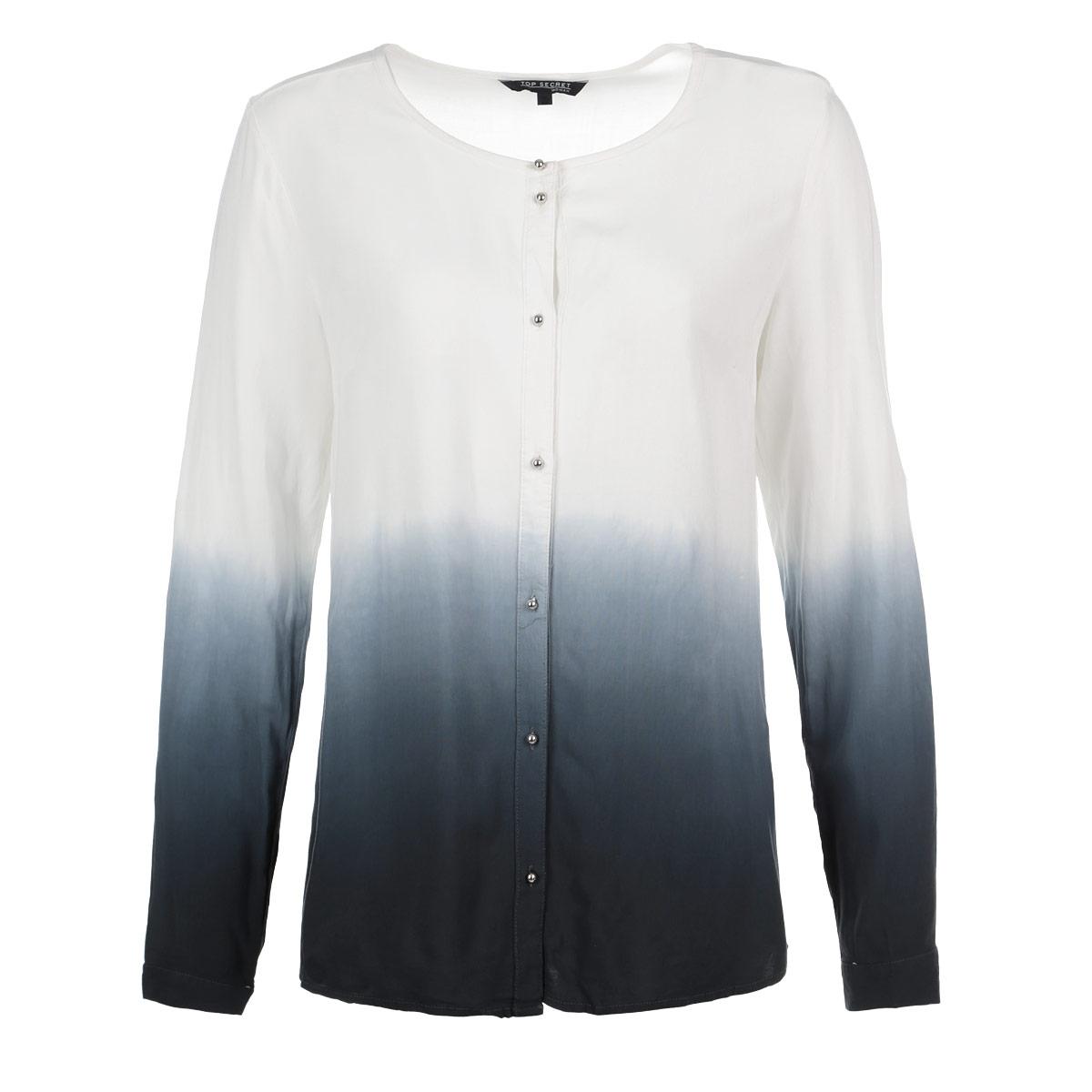 Блузка женская. SKL1748SKL1748BIСтильная блузка Top Secret, выполненная из высококачественного материала, обладает высокой теплопроводностью, воздухопроницаемостью и гигроскопичностью, позволяет коже дышать, тем самым обеспечивая наибольший комфорт при носке. Блузка прямого кроя с длинными рукавами и круглым вырезом горловины застегивается на пуговицы. Манжеты также застегиваются на пуговицы. При желании рукава можно подвернуть до локтя и зафиксировать хлястиком на пуговицу. Такая блузка будет дарить вам комфорт в течение всего дня и послужит замечательным дополнением к вашему гардеробу.