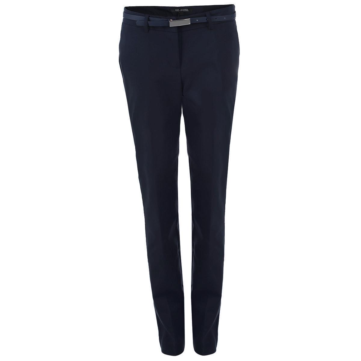 Брюки женские. SSP1979SSP1979GRСтильные женские брюки Top Secret со стрелками созданы специально для того, чтобы подчеркивать достоинства вашей фигуры. Модель прямого кроя и средней посадки станет отличным дополнением к вашему современному образу. Застегиваются брюки на два крючка и пуговицу в поясе и ширинку на застежке-молнии, имеются шлевки для ремня и тонкий ремешок в комплекте. Спереди модель оформлена двумя втачными карманами с косыми срезами, а сзади - имитацией прорезных кармашков. Эти модные и в тоже время комфортные брюки послужат отличным дополнением к вашему гардеробу. В них вы всегда будете чувствовать себя уютно и комфортно.