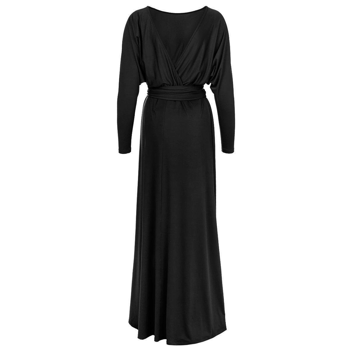 Платье. 70277027Шикарное платье Mondigo макси-длины выполнено из высококачественного материала - микрофибры с небольшим добавлением эластана, приятного на ощупь. Модель приталенного силуэта с круглым вырезом горловины. Верхняя часть платья выполнена в виде летучей мыши со свободными длинными рукавами. На спинке - глубокий V-образный вырез с эффектом запаха. На талии предусмотрена сборка на резинку. Дополнительно подчеркнуть талию поможет эластичный пояс. Стильное платье - прекрасный вариант для создания вечернего образа.