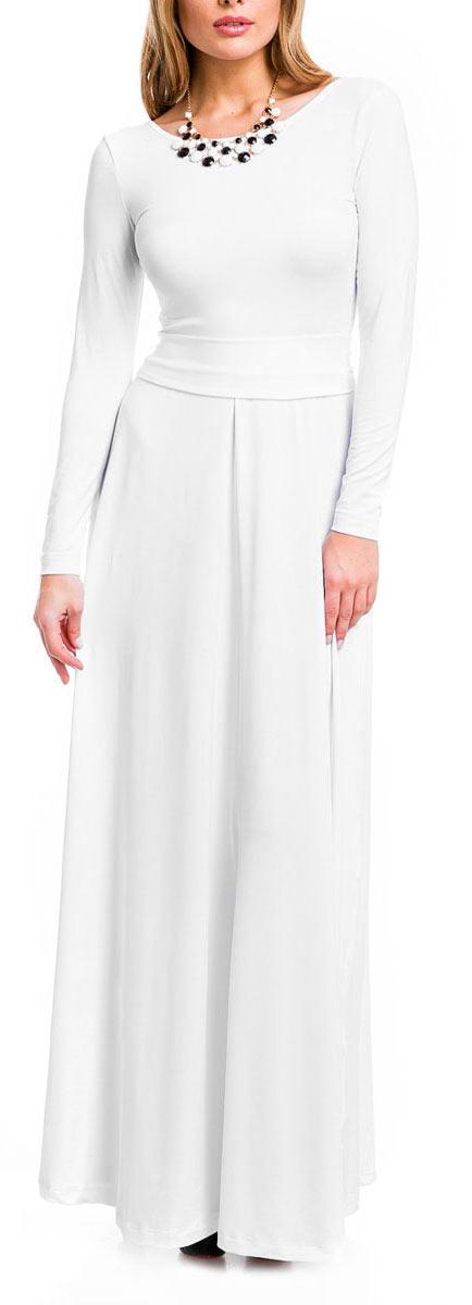 7003Элегантное платье Mondigo в пол придаст очарование и женственность своей обладательнице. Модель с отрезной талией, круглым вырезом горловины и длинными рукавами. Платье длины макси выполнено из приятной струящейся ткани - высококачественного полотна микрофибры с небольшим добавлением эластана. На спинке - глубокий V-образный вырез. На талии модель украшена изящным пояском. Изысканный наряд создаст обворожительный неповторимый образ. Приталенный силуэт подчеркивает стройность фигуры.