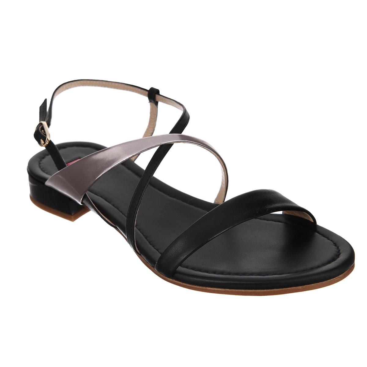 Сандалии женские. 910112191011210175Стильные сандалии от Hogl отлично дополнят ваш модный образ. Модель выполнена из натуральной высококачественной кожи и оформлена перекрещивающимися ремешками в области союзки. Ремешок с металлической пряжкой надежно зафиксирует модель на вашей щиколотке. Длина ремешка регулируется за счет болта. Подкладка и стелька из натуральной кожи комфортны при ходьбе. Невысокий каблук и подошва с рифлением обеспечивают отличное сцепление с поверхностью. Изящные сандалии не оставят равнодушной ни одну женщину!