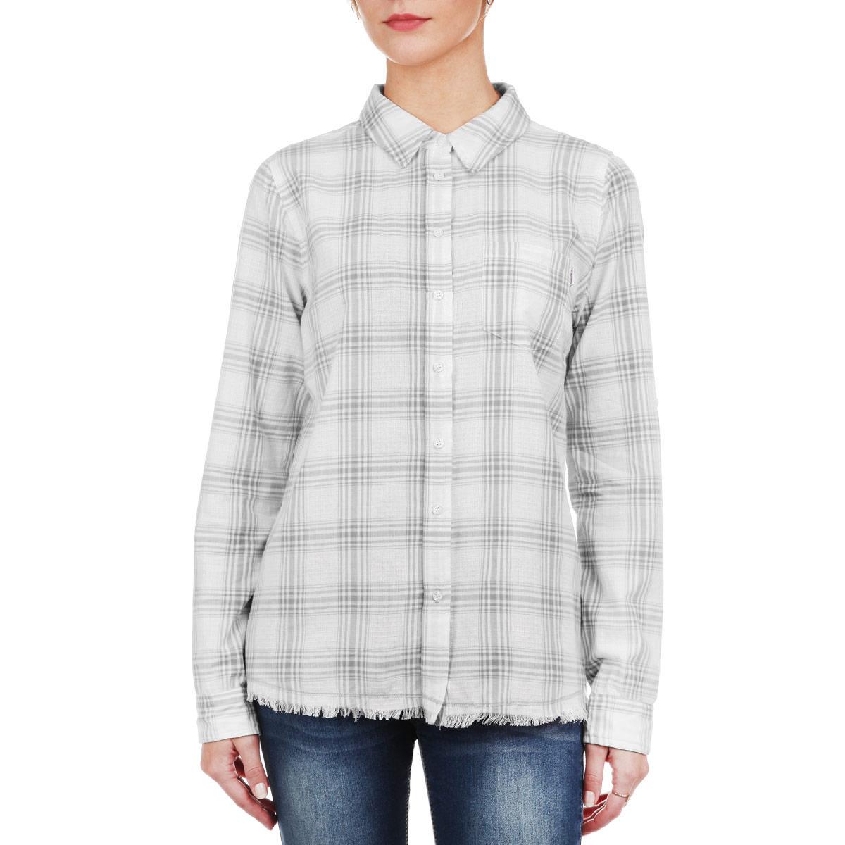 Рубашка60101694 00DСтильная женская рубашка Broadway, выполненная из мягкого хлопка, обладает высокой теплопроводностью, воздухопроницаемостью и гигроскопичностью, позволяет коже дышать, тем самым обеспечивая наибольший комфорт при носке даже самым жарким летом. Рубашка с длинными рукавами, отложным воротником и полукруглым низом застегивается на пуговицы. На груди модель дополнена накладным карманом. Низ изделия оформлен бахромой. Такая рубашка будет дарить вам комфорт в течение всего дня и послужит замечательным дополнением к вашему гардеробу.