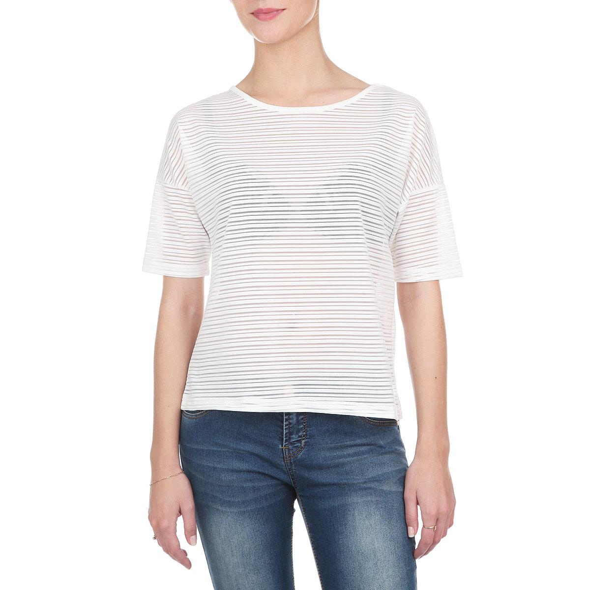 Футболка10152354 001Стильная женская футболка Broadway свободного кроя выполнена из полупрозрачного эластичного материала. Модель с круглым вырезом горловины и короткими рукавами со спущенной линией плеча. Эта футболка - идеальный вариант для создания образа в стиле Casual. Она позволит вам создать множество интересных комбинаций и подчеркнет ваш безупречный вкус.