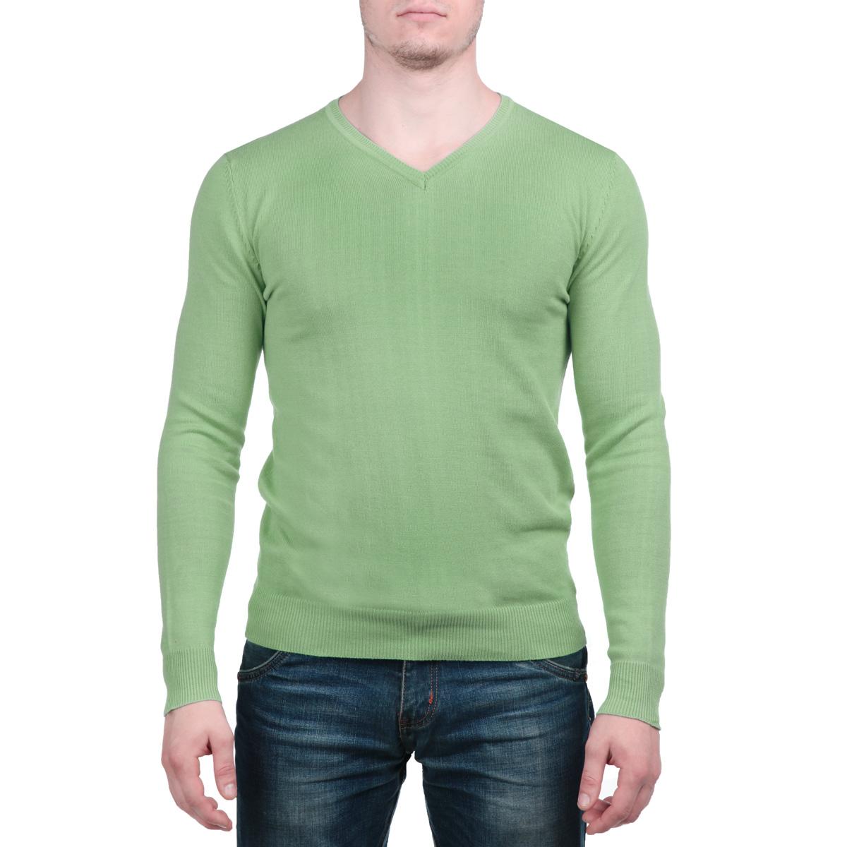 AbyssoB/BAYGREENСтильный мужской пуловер MeZaGuZ, изготовленный из высококачественного хлопка, не сковывает движения, обеспечивая наибольший комфорт. Модель с V-образным вырезом горловины великолепно сидит, а однотонная расцветка прекрасно сочетается с любыми нарядами. Низ и манжеты пуловера связаны резинкой. Этот теплый и комфортный пуловер станет отличным дополнением к вашему гардеробу. В нем вы всегда будете чувствовать себя уютно в прохладное время года.