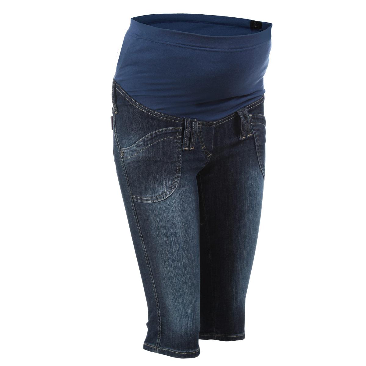 Бриджи5315.1Очень удобные джинсовые бриджи для беременных Nuova Vita с бандажом на живот, изготовленные из высококачественного материала, придают элегантность и индивидуальность. Бриджи прямого покроя имеют четырехкарманный крой: спереди - два накладных кармана и сзади - два накладных кармана. Имеются шлевки для ремня и имитация ширинки. Бандаж из стрейч-ткани поддерживает живот и уменьшает нагрузку на поясницу, с внутренней стороны регулируется эластичной резинкой на пуговице. В прохладную погоду бриджи прекрасно сочетаются со свитерами и кардиганами, длинными блузками или джемперами. Эта модель придется по душе даже самой капризной женщине.