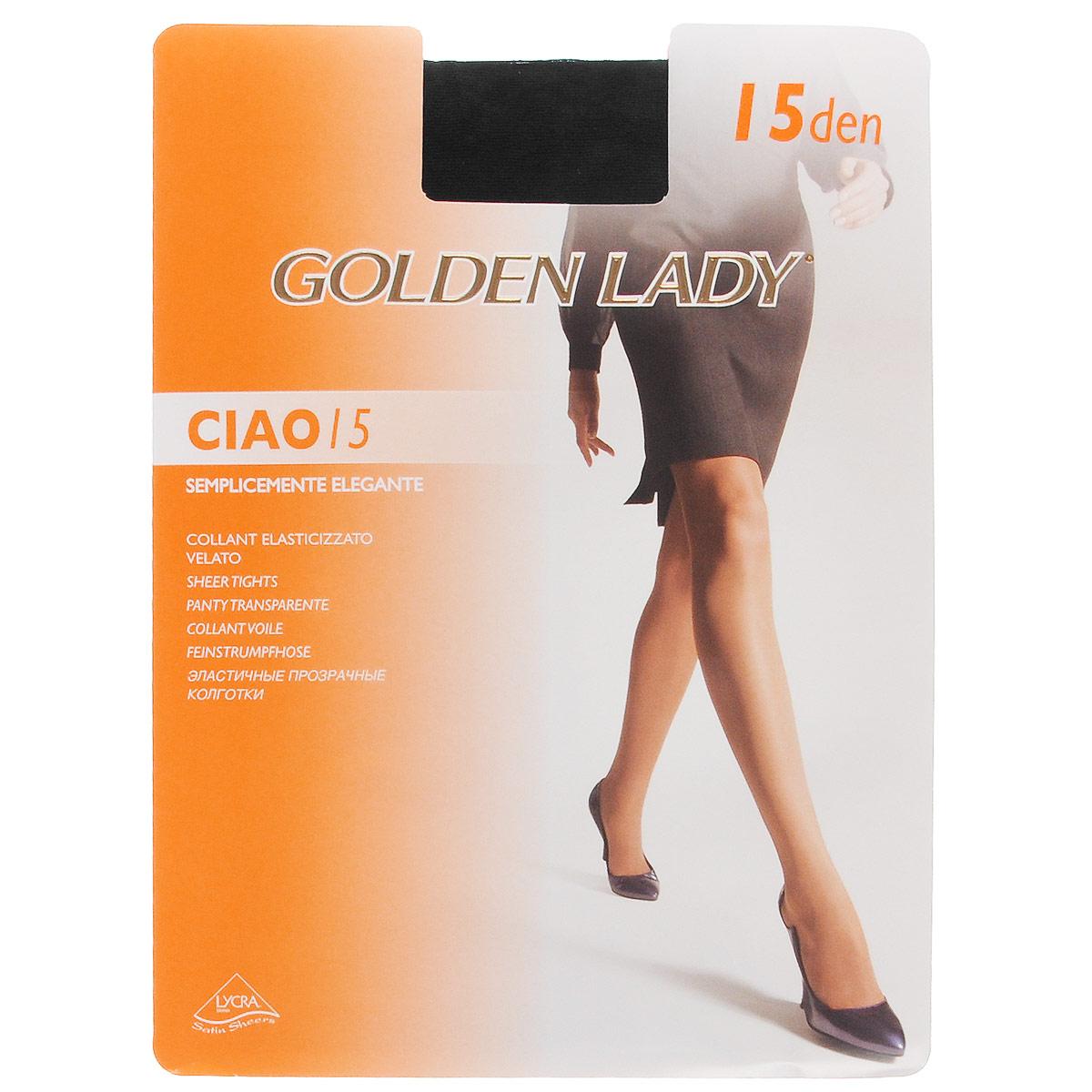 Колготки женские Ciao 15. 36N-UR36N-URТонкие эластичные колготки Golden Lady Ciao с комфортными швами. Плотность: 15 den.