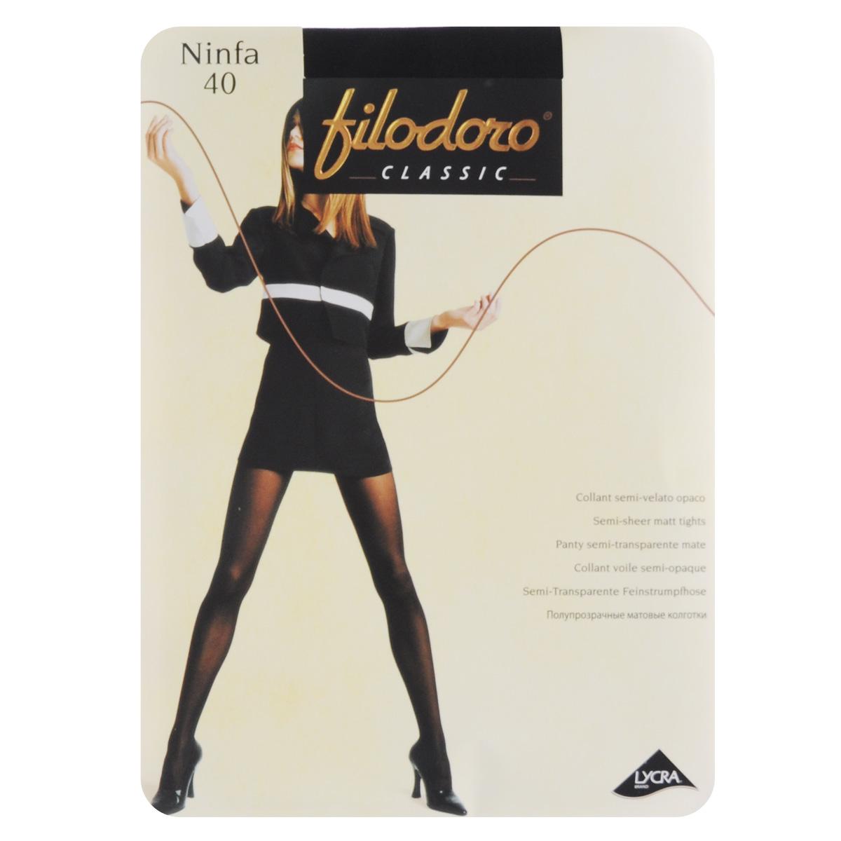 Колготки женские Ninfa 40. C115059FCC115059FCМатовые эластичные колготки Filodoro Classic Ninfa, однородные по всей длине, с комфортным швом, гигиеничной ластовицей и укрепленным мыском. Плотность: 40 den.
