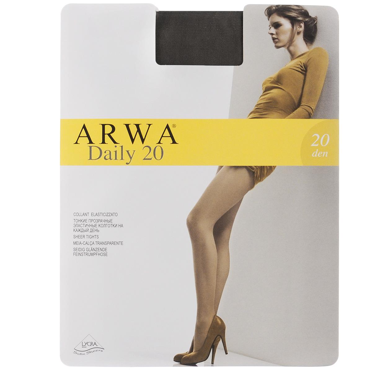 Колготки женские Daily 20800ARWAТонкие прозрачные эластичные колготки Arwa Daily с удобным швом - отличный выбор на каждый день. Плотность: 20 den.