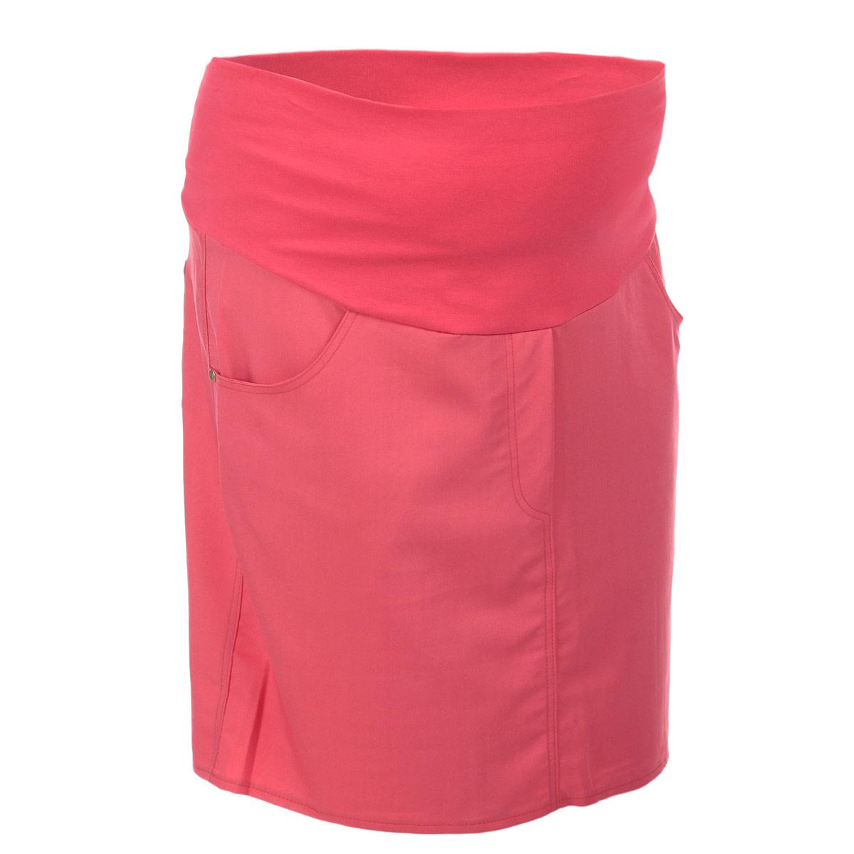 Юбка6107.1Стильная и удобная юбка для беременных Nuova Vita станет отличным дополнением вашего летнего гардероба и подчеркнет очарование будущей мамы. Юбка-миди выполнена из высококачественного материала, она невероятно мягкая и приятная на ощупь. Модель оснащена высоким удобным бандажом, дополнительно поддерживающим живот. Юбка дополнена двумя втачными карманами спереди и двумя накладными карманами сзади, а также оформлена имитацией ширинки. Юбка выполнена из вискозы с добавлением полиэстера и эластана. Вискоза является волокном, произведенным из натурального материала - целлюлозы (древесины). Иногда ее называют древесный шелк. Эта ткань на ощупь мягкая и приятная, образует красивые складки. Материал очень хорошо впитывает влагу, не образует катышек со временем, не выцветает на солнце и обладает приятным шелковистым блеском.