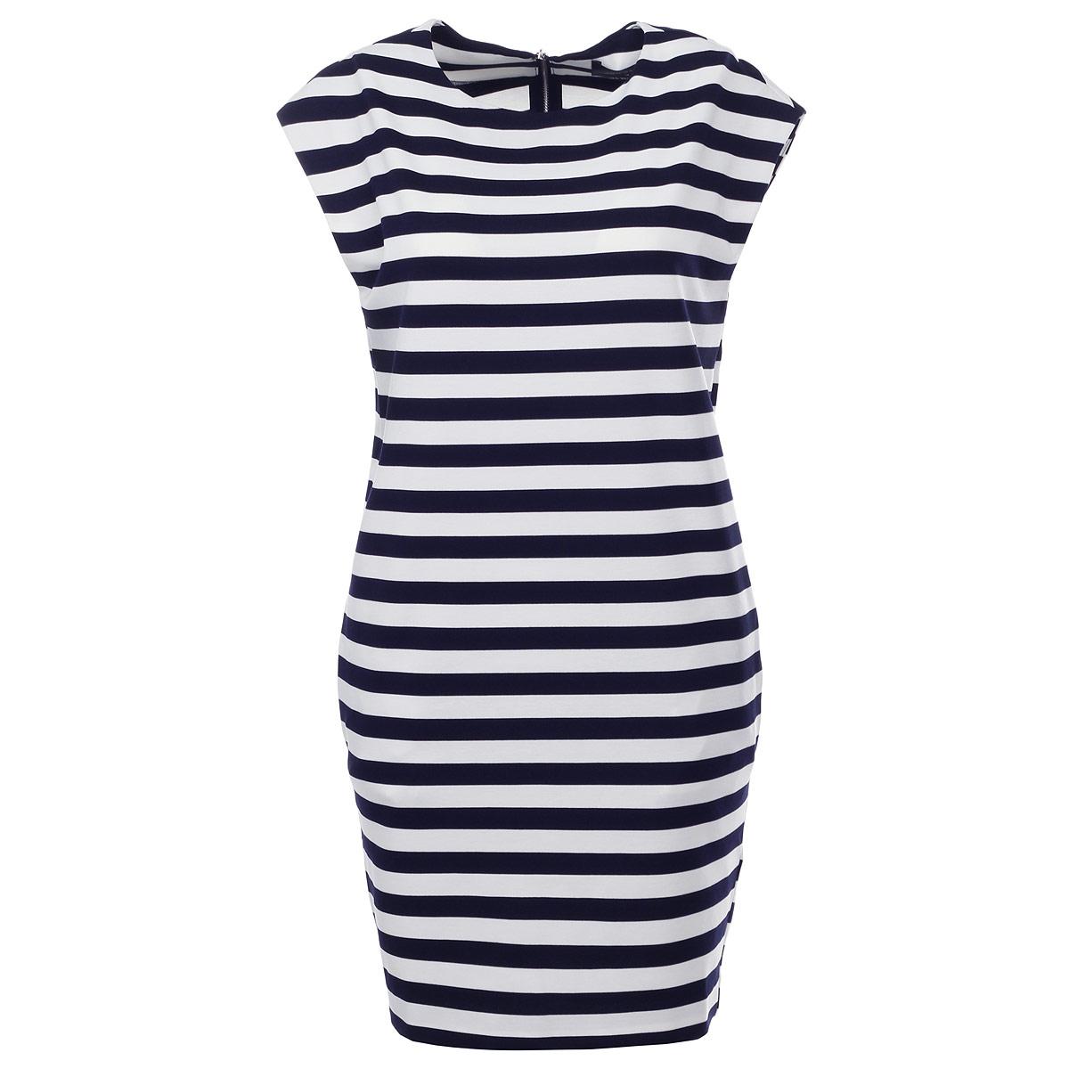 Платье. SSU1329SSU1329BIСтильное платье Top Secret станет превосходным дополнением к вашему гардеробу. Изготовленное из полиэстера с добавлением вискозы и эластана, оно мягкое на ощупь, не раздражает кожу и хорошо вентилируется. Модель прямого кроя с круглым вырезом горловины оформлена принтом в полоску. На спинке платье застегивается на металлическую застежку-молнию, что облегчит процесс переодевания. По бокам изделие дополнено двумя втачными карманами. Это платье подарит вам удобство и поможет вам подчеркнуть свой вкус и неповторимый стиль.