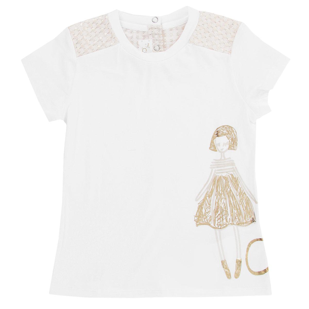 9047698Очаровательная футболка для девочки Chicco идеально подойдет вашей маленькой моднице. Изготовленная из высококачественного материала, она мягкая и приятная на ощупь, не сковывает движения и позволяет коже дышать, не раздражает даже самую нежную и чувствительную кожу ребенка, обеспечивая наибольший комфорт. Футболка трапециевидного кроя с круглым вырезом горловины и короткими рукавами по спинке имеет небольшую застежку на две оригинальные застежки-кнопки. Отделка верхней части придает изделию оригинальность. Оформлена футболка оригинальной термоаппликацией с изображением девушки и надписью Chic. Вырез горловины дополнен эластичной трикотажной вставкой. Современный дизайн и расцветка делают эту футболку модным и стильным предметом детского гардероба. В ней ваша маленькая модница будет чувствовать себя уютно и комфортно, и всегда будет в центре внимания!