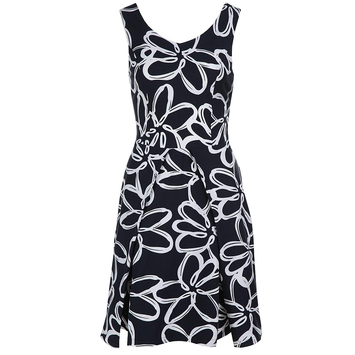 Платье6321466Модное летнее платье Yarmina, изготовленное из высококачественного материала, подарит вам ощущение праздника и комфорта. Модель приталенного силуэта, с V-образным вырезом горловины и на широких бретелях. Изделие застегивается на потайную застежку-молнию, расположенную в боковом шве. Модель имеет расклешенную юбку, оформленную объемными складками. В этом платье вы всегда будете чувствовать себя уверенно, оставаясь в центре внимания.