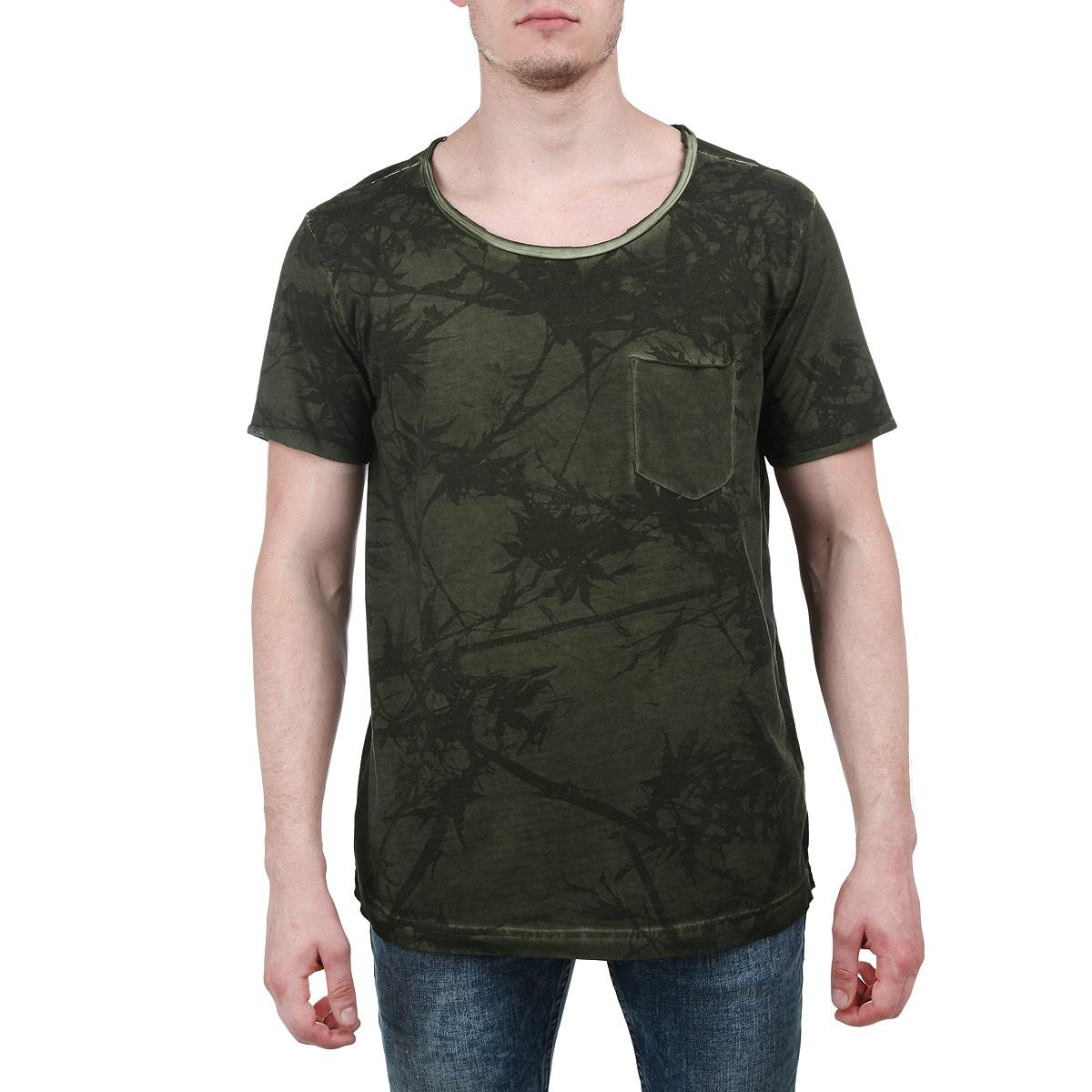 Футболка мужская. 1031393.02.121031393.02.12Стильная мужская футболка Tom Tailor, выполненная из высококачественного мягкого хлопка с полиэстером, обладает высокой теплопроводностью, воздухопроницаемостью и гигроскопичностью, позволяет коже дышать. Модель с короткими рукавами и круглым вырезом горловины оформлена оригинальным растительным принтом и дополнена на груди накладным карманом. Эта футболка - идеальный вариант для создания эффектного образа.