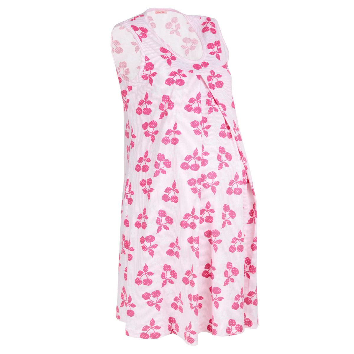 Ночная рубашка326.1Симпатичная сорочка для беременных и кормящих мам Nuova Vita Mamma Bella, изготовленная из натурального хлопка, оформлена принтом с изображением вишенок. Молодая мамочка будет выглядеть красиво и женственно в этот важный период. Аккуратная сорочка без рукавов с круглым вырезом горловины имеет легкий доступ к груди для комфортного кормления малыша, а так же максимального удобства ночных кормлений. Секрет кормления скрыт в складках сорочки на груди. Изделие приятно к телу, дарит комфорт при носке и позволяет коже дышать. Великолепный выбор на каждый день.