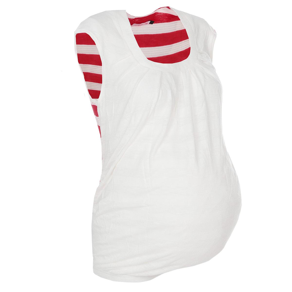 Блузка1347.1Стильная футболка Nuova Vita для будущих мам, изготовленная из мягкой вискозы с полосатым принтом, подарит комфорт во время носки. Модель полуоблегающего кроя с круглым вырезом горловины и без рукавов идеальна для повседневной носки, прекрасно садится на любую фигуру, комфортна и приятна к телу. По низу изделие собрано на резинку. Вискоза является волокном, произведенным из натурального материала - целлюлозы (древесины). Иногда ее называют древесный шелк. Эта ткань на ощупь мягкая и приятная, образует красивые складки. Материал очень хорошо впитывает влагу, не образует катышек со временем, не выцветает на солнце и обладает приятным шелковистым блеском.