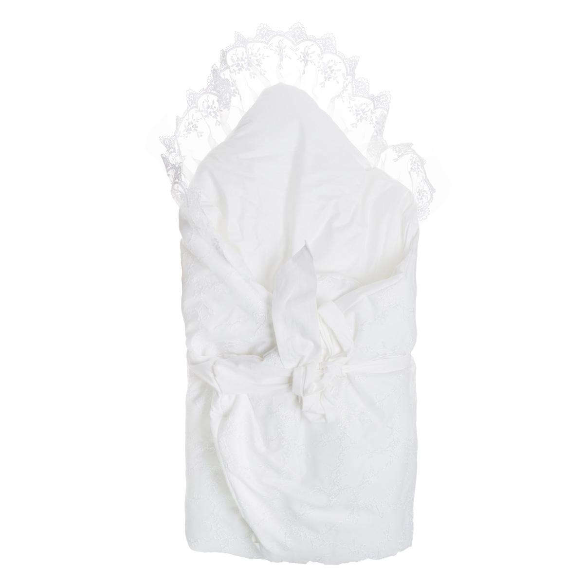 К12112Конверт-одеяло Baby Nice прекрасно подойдет для выписки новорожденного из роддома. В дальнейшем его можно использовать во время прогулок с малышом в коляске-люльке или в качестве удобного коврика для пеленания. Конверт-одеяло изготовлен из сатина - натурального хлопка на хлопковой подкладке (сатин). В качестве утеплителя используется файберпласт (200 г) - качественный, легкий и неприхотливый в эксплуатации нетканый материал, который великолепно удерживает тепло, дышит, является гипоаллергенным, прекрасно стирается, практически не слеживается, быстро сохнет и не впитывает неприятные запахи. Конверт-одеяло складывается и фиксируется лентой. Украшен конверт классическими атрибутами одежды для младенцев на выписку: сверху - легким изысканным кружевом, посередине - атласными лентами. Оригинальный конверт на выписку порадует взгляд родителей и прохожих.
