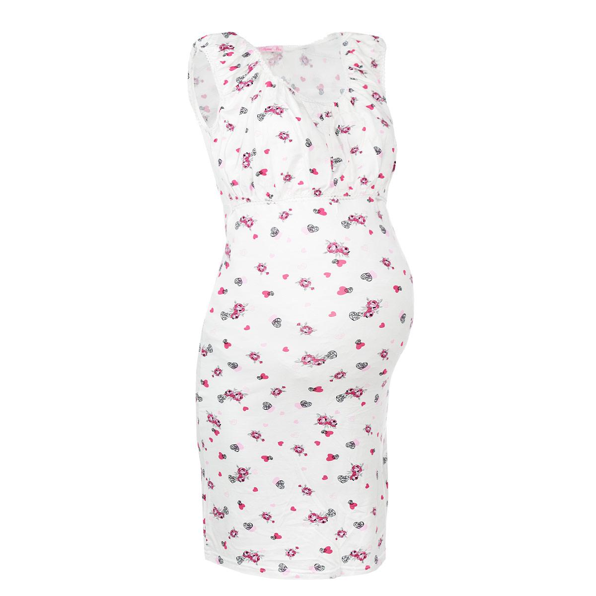 Ночная рубашка602.1Элегантная сорочка для беременных и кормящих мам Nuova Vita Mamma Perfetta, изготовленная из очень приятного материала качества суприм-вискоза, оформлена нежным принтом и ажурной резинкой по горловине, линии груди и на рукавах. Молодая мамочка будет выглядеть красиво и женственно в этот важный период. Аккуратная сорочка с завышенной линией талии имеет легкий доступ к груди для комфортного кормления малыша, а так же максимального удобства ночных кормлений. Изделие приятно к телу, сохраняет тепло в холодное время года и дарит прохладу в теплое, позволяет коже дышать. Великолепный выбор на каждый день.