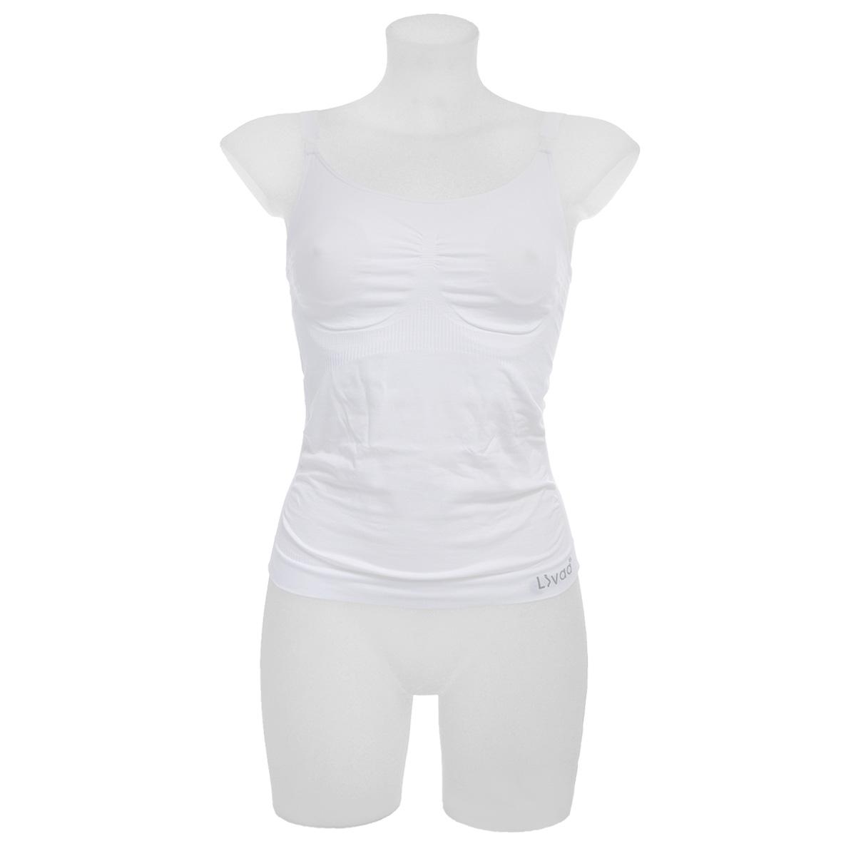 Майка14364Бесшовная майка Livaa с отстегивающимися чашками из мягкой микрофибры идеально подходит и во время беременности, и в период кормления. Майку можно носить как в качестве нижнего белья, к примеру, под джемпер, так и наверх, с джинсами или под пиджак. Стильный и практичный дизайн для комфортного кормления. Простое освобождение застежки с обеих сторон облегчает переход к процессу кормления. Встроенный бюстгальтер поддерживает грудь и предотвращает появления растяжек на груди. Бесшовное белье фирмы Livaa изготовлено по новейшим технологиям с использованием современных материалов. Уплотненная микрофибра, использование нескольких типов вязки делает изделия нежными и комфортными. Отсутствие швов создает идеальное облегание, не давит на кожу, легко стирается, не деформируется при носке. Белье произведено по NanoTechnology технологии, что обеспечивает отличное поглощение влаги и свободную циркуляцию воздуха.