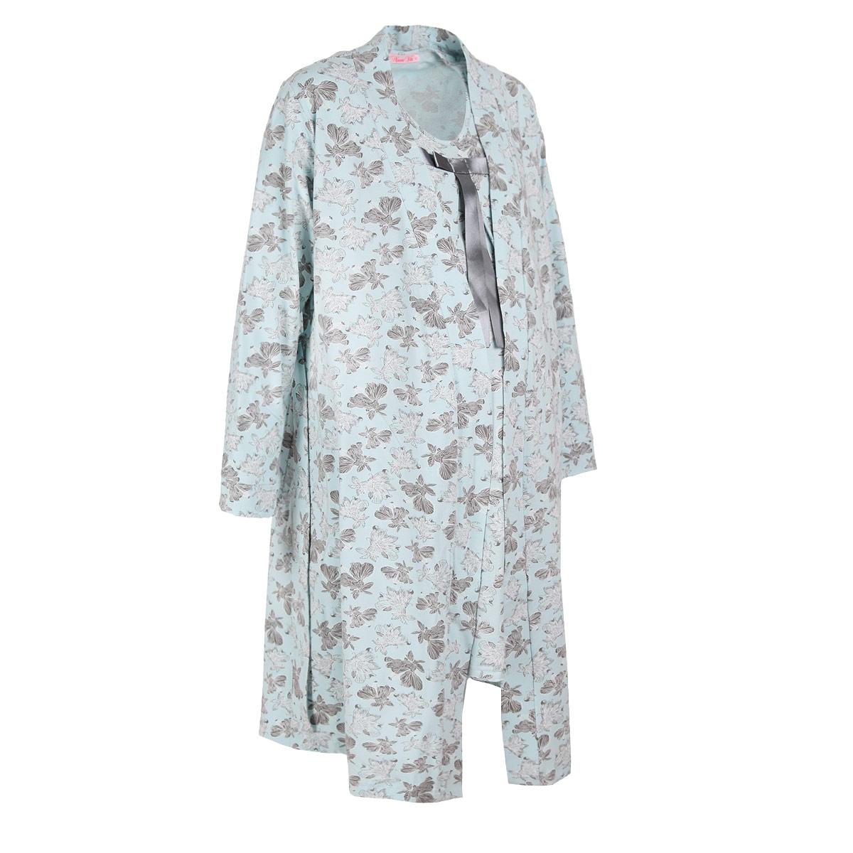 Домашний комплект316.2Элегантный комплект для беременных и кормящих Nuova Vita Mamma Bella Лилии, состоящий из халата и сорочки, замечательно подходит для сна и отдыха. Красивая женственная расцветка сочетается с удобством и комфортом. Комплект выполнен из эластичного хлопка, он мягкий и приятный к телу, не раздражает нежную и чувствительную кожу, позволяет ей дышать. Халат с запахом, длинными рукавами и высоко расположенным поясом фиксируется при помощи атласных ленточек, а сверху - поясом в тон изделия. Свободные шлевки позволят завязать пояс на удобной высоте, под грудью во время беременности или на талии после. Удобство халата состоит в доступности к груди, ширине рукавных пройм, а также наличии вместительных карманов для всего необходимого. Сорочка свободного кроя без рукавов с округлым вырезом горловины спереди имеет складки для растущего животика. В складках спрятаны специальные прорези для кормления. Декорировано изделие на груди атласной лентой и бантиком. Свободный покрой...