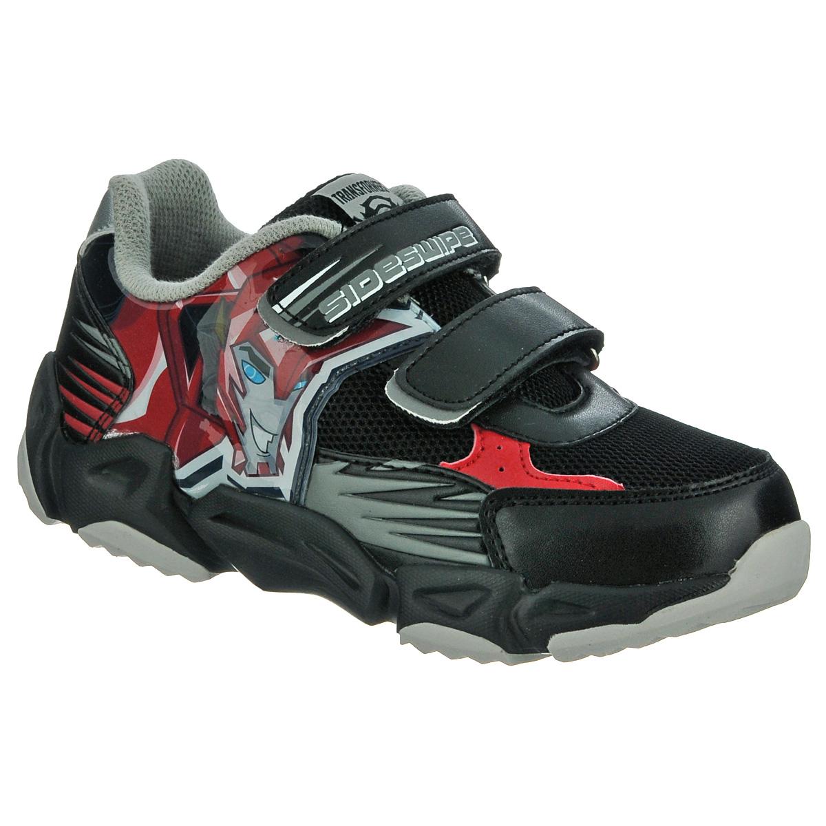 Купить кроссовки Kakadu, цвет: черный. Кроссовки для мальчика Transformers. 5254 - цена в интернет-магазине обуви