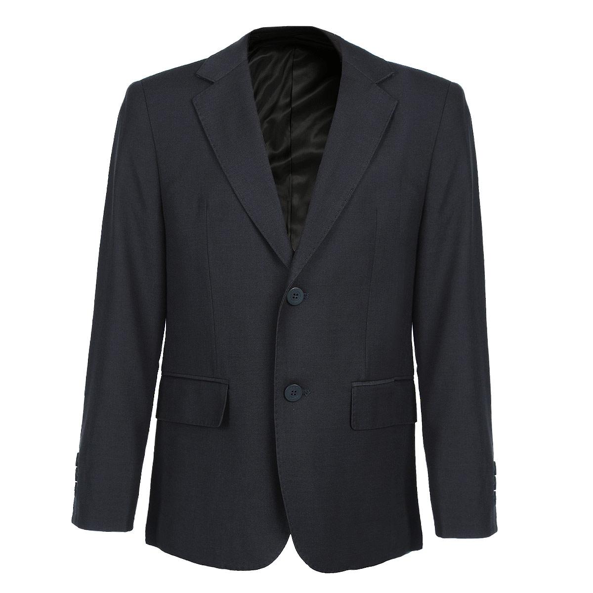 Пиджак для мальчика. 353026/353025353025Стильный пиджак для мальчика Scool станет отличным дополнением к школьному гардеробу в прохладные дни. Изготовленный из высококачественного материала, он необычайно мягкий и приятный на ощупь, не сковывает движения и позволяет коже дышать, не раздражает нежную кожу ребенка, обеспечивая ему наибольший комфорт. Подкладка выполнена из гладкой подкладочной ткани. Пиджак с воротничком с лацканами застегивается на пластиковые пуговички. Манжеты дополнены декоративными пуговицами. Спереди пиджак дополнен двумя прорезными карманами с клапанами. С изнаночной стороны также имеются два прорезных вместительных кармана. Сзади предусмотрена шлица. В таком пиджачке ваш маленький мужчина будет чувствовать себя комфортно, уютно и всегда будет в центре внимания!